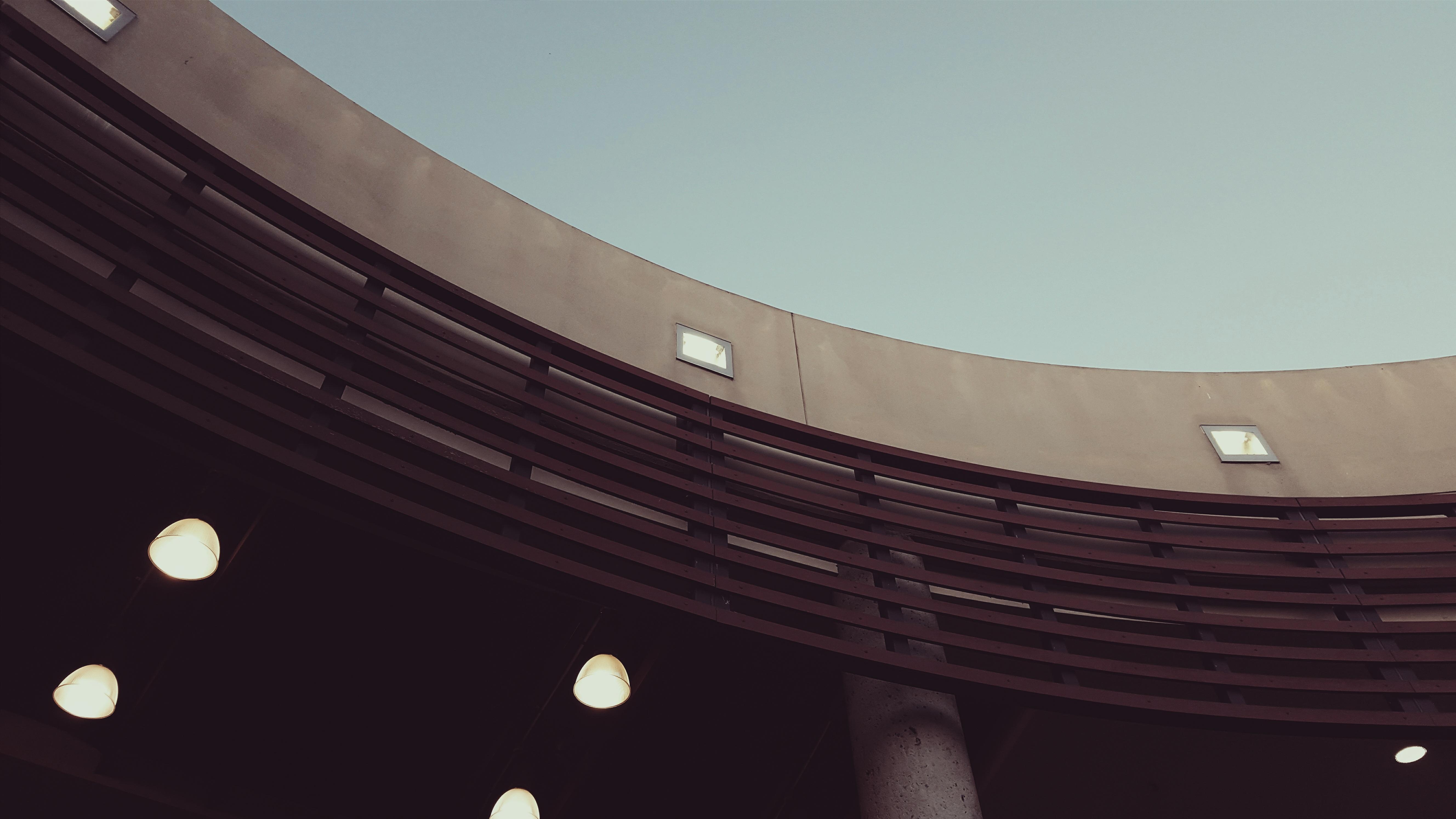 光 建築 構造 木材 建物 天井 ライン 曲線 点灯 サークル 形状 昼光