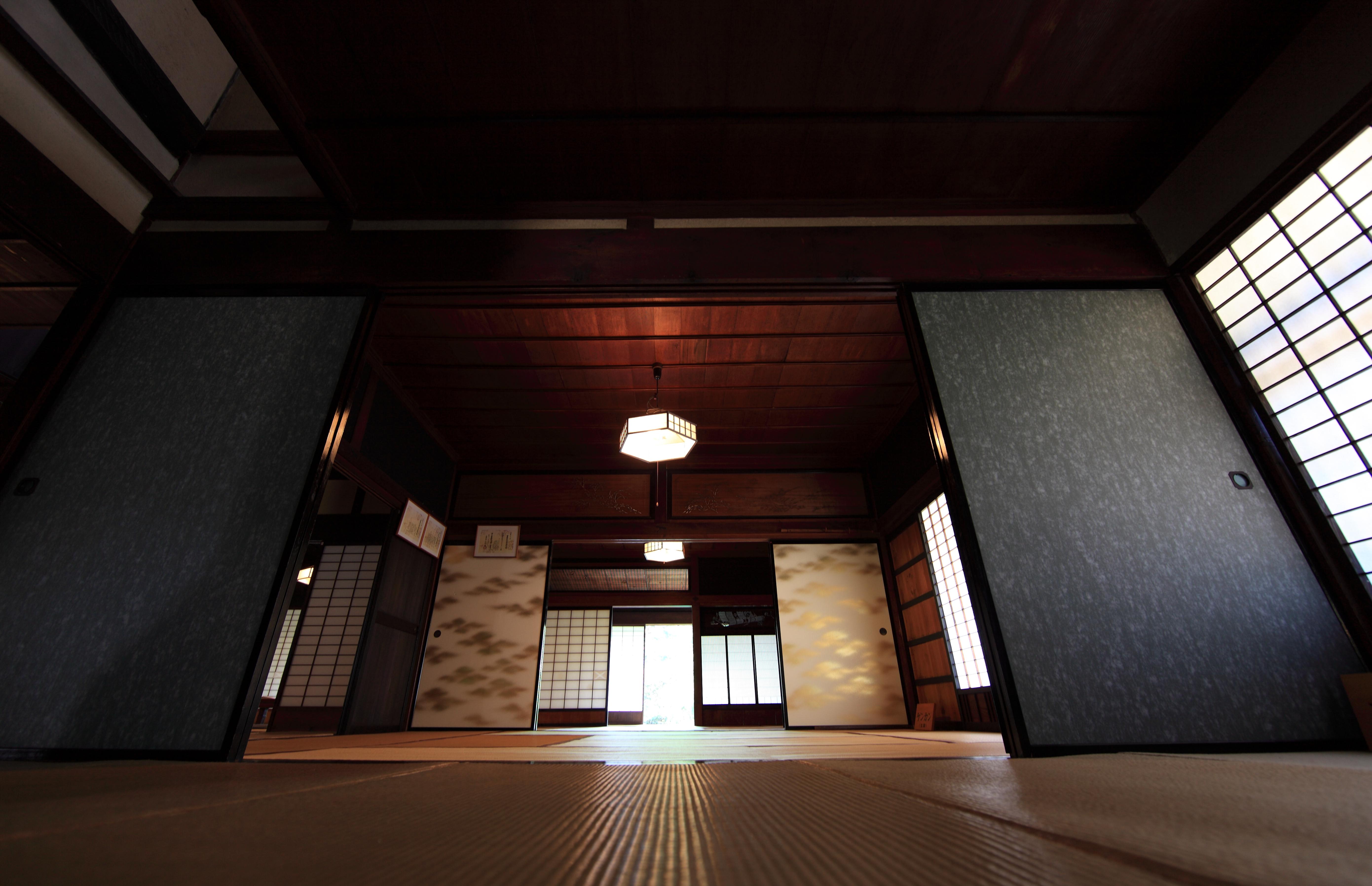 f219c9636 Obrazy : svetlo, architektúra, drevo, dom, interiér, Domov, strop, vysoký,  hala, staroveký, bydliska, izbu, interiérový dizajn, japonský, 5d, štýl,  najíma, ...