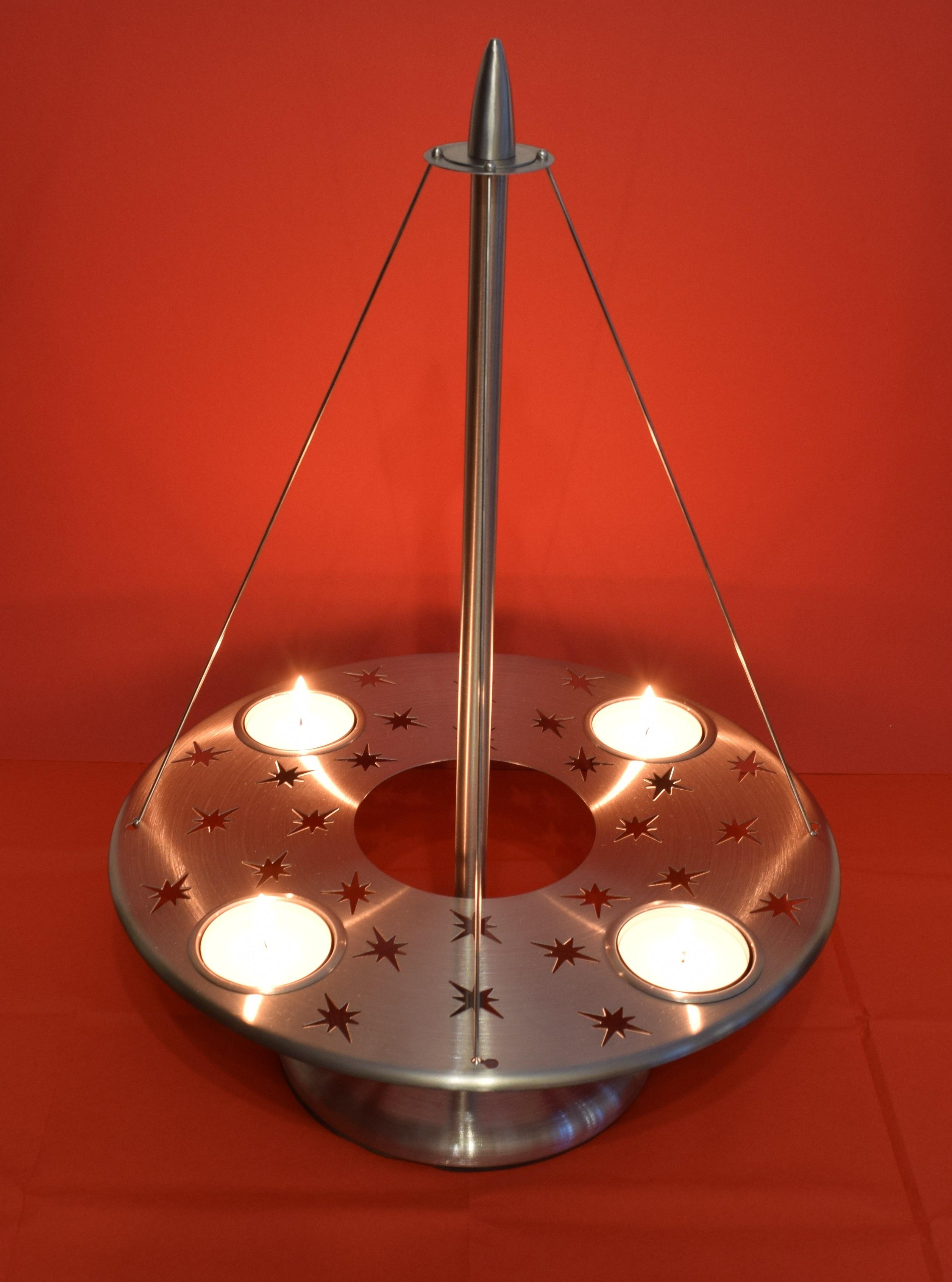 Immagini belle leggero atmosfera soffitto fiamma romanza lampada natale illuminazione - Adventskranz edelstahl dekorieren ...