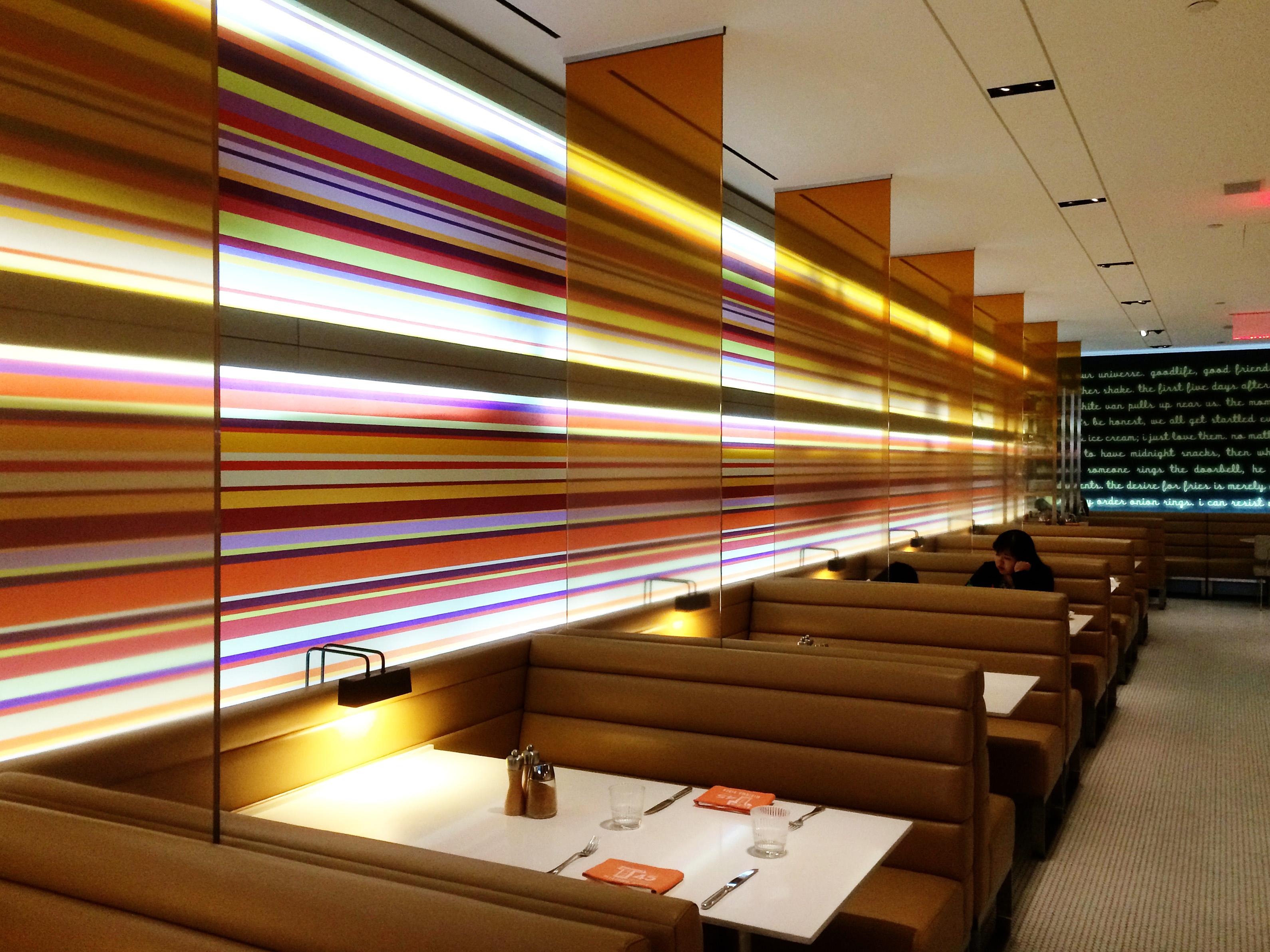 Light Auditorium Seat Restaurant City Wall Decoration Nyc Usa Diner Lighting Interior Design New York Convention