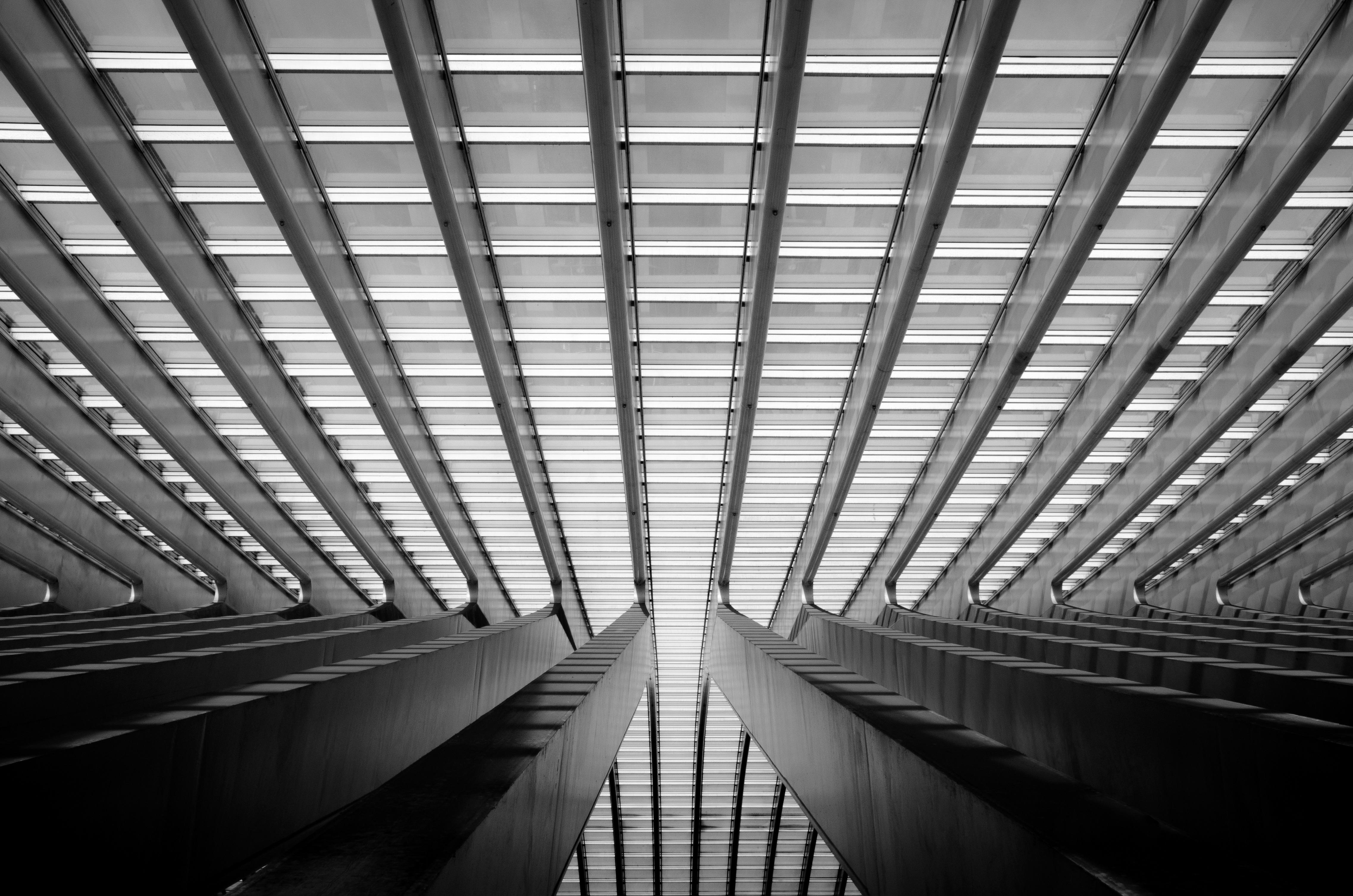 fotos gratis ligero en blanco y negro vaso edificio rascacielos tren transporte lnea oscuridad monocromo blanco negro blgica