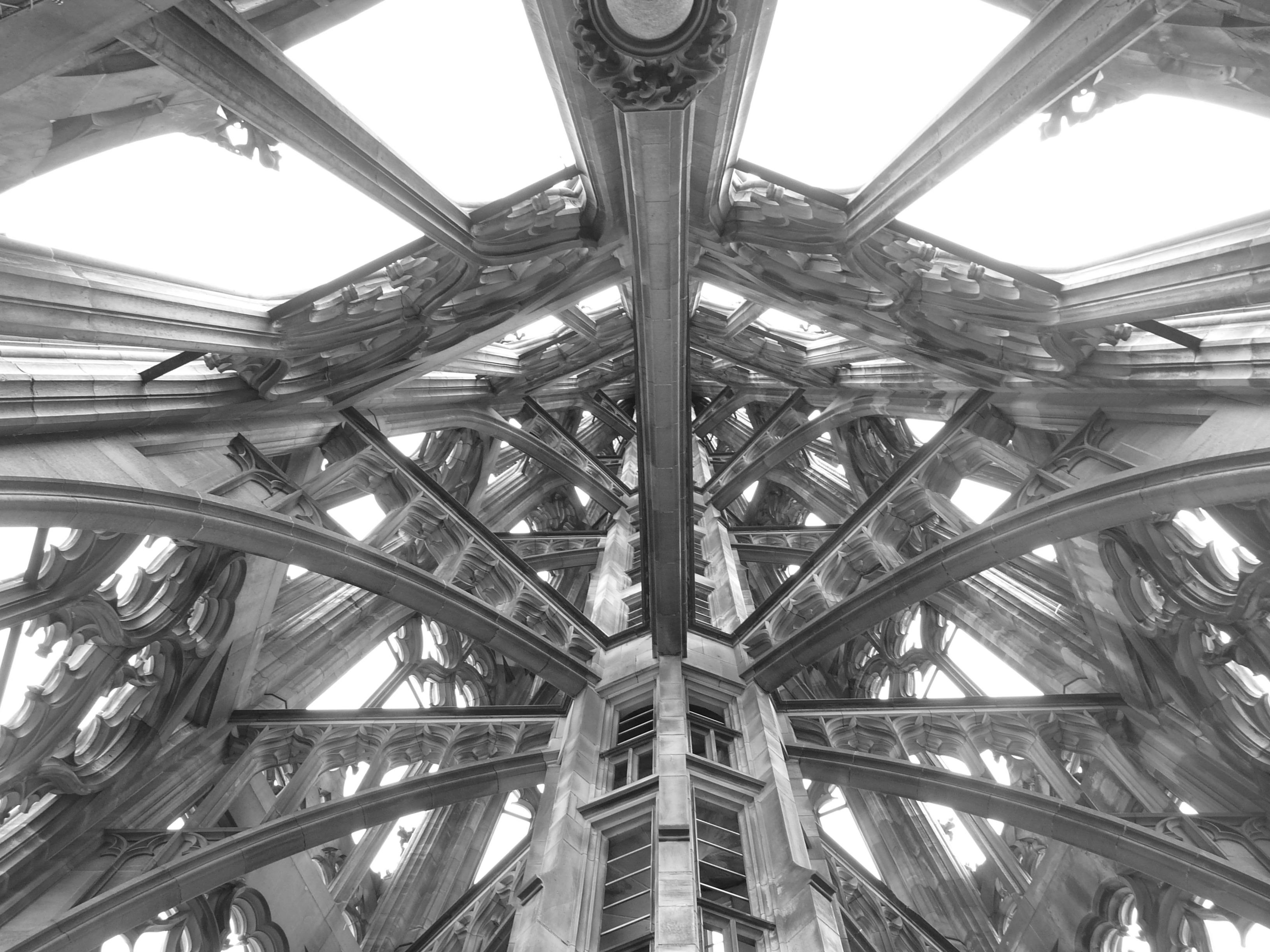 ... building ceiling pillar church lighting gothic art design arches symmetry light fixture dome dom arcades enormous sand stone impressive ... & Free Images : black and white architecture structure wheel ... azcodes.com