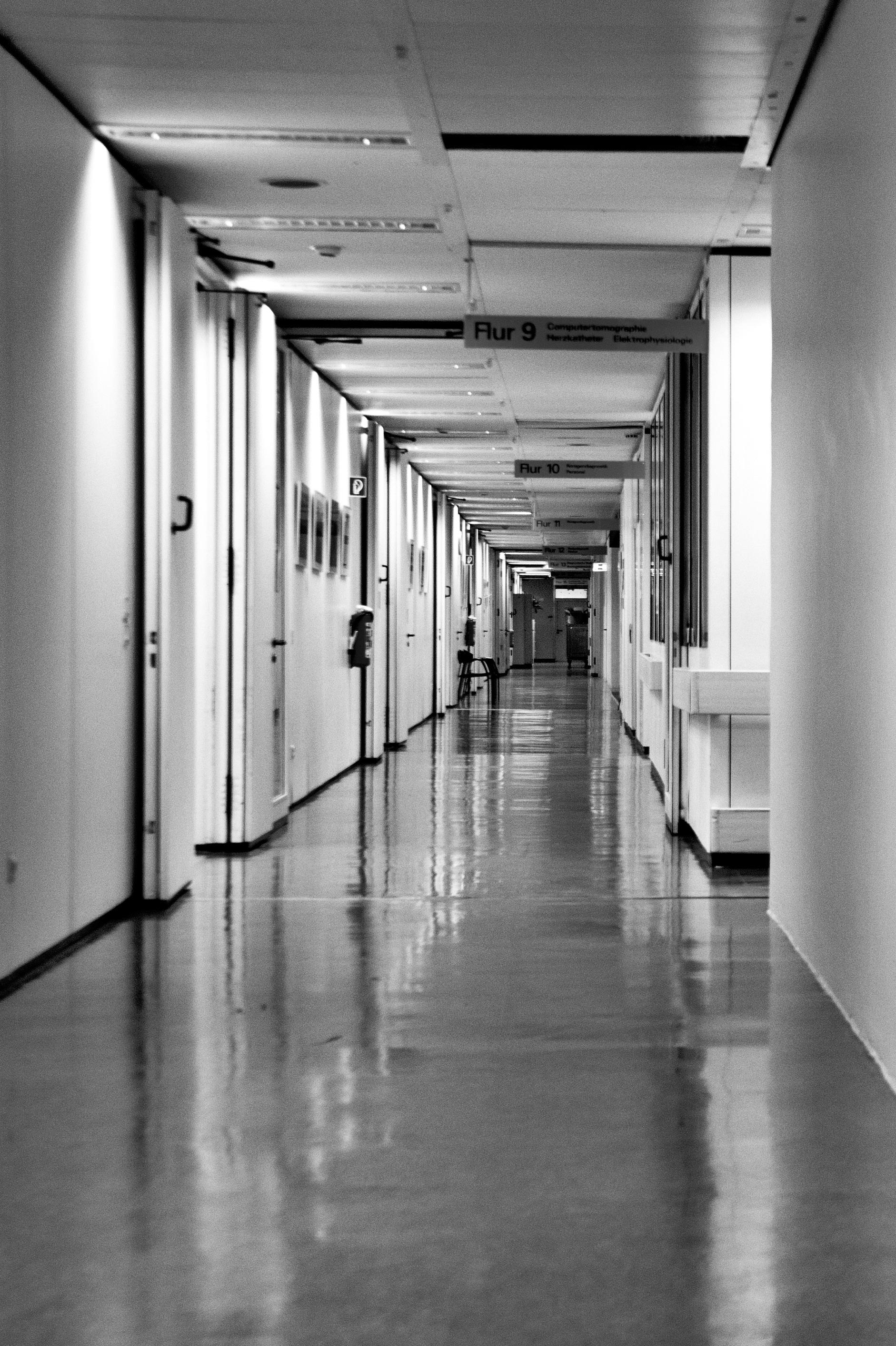 Hospital Corridor Lighting Design: Free Images : Light, Black And White, Architecture