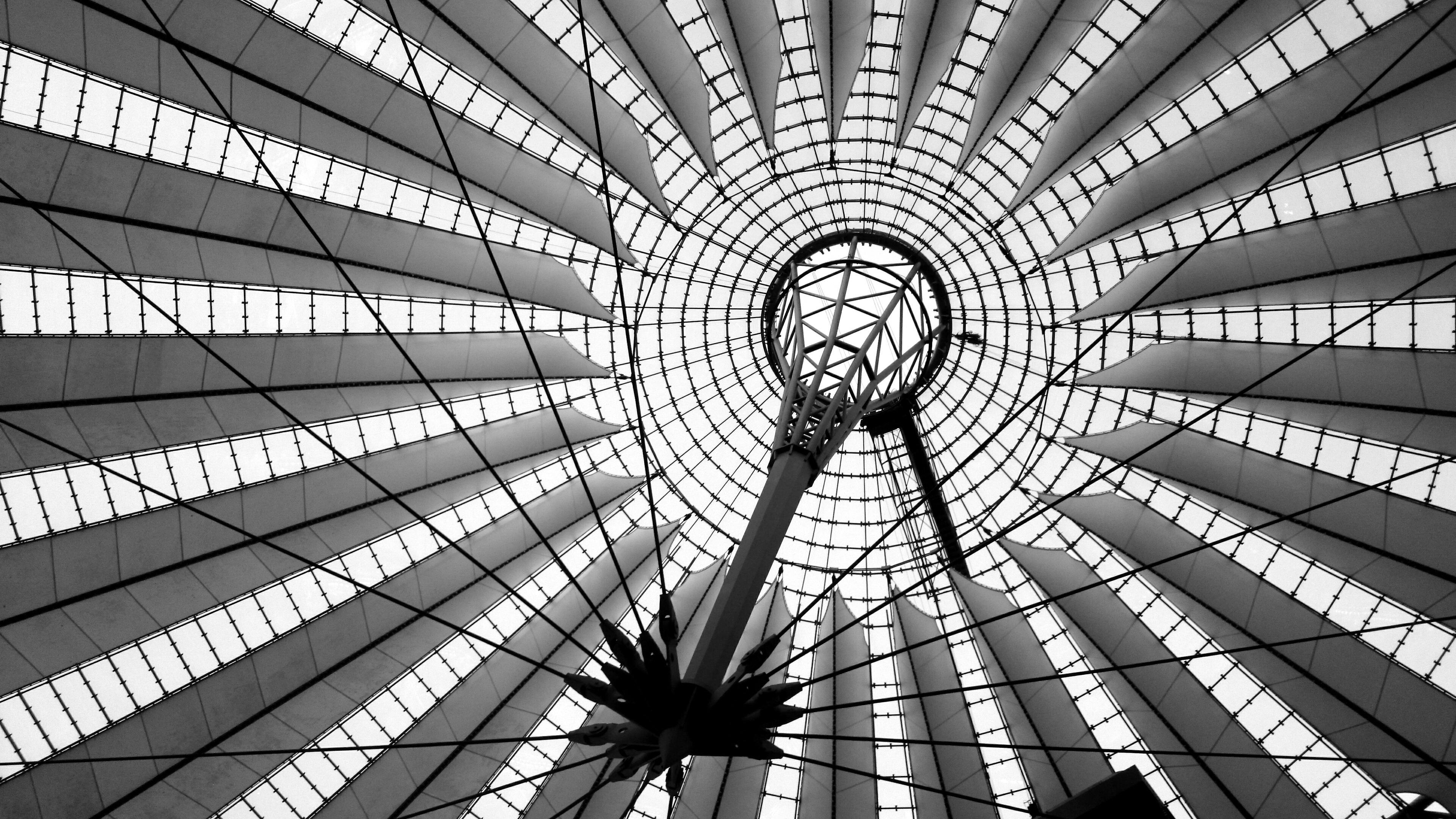 Light Black And White Architecture Structure Wheel Spiral Skyscraper Architect Construction Line Monochrome Circle Design