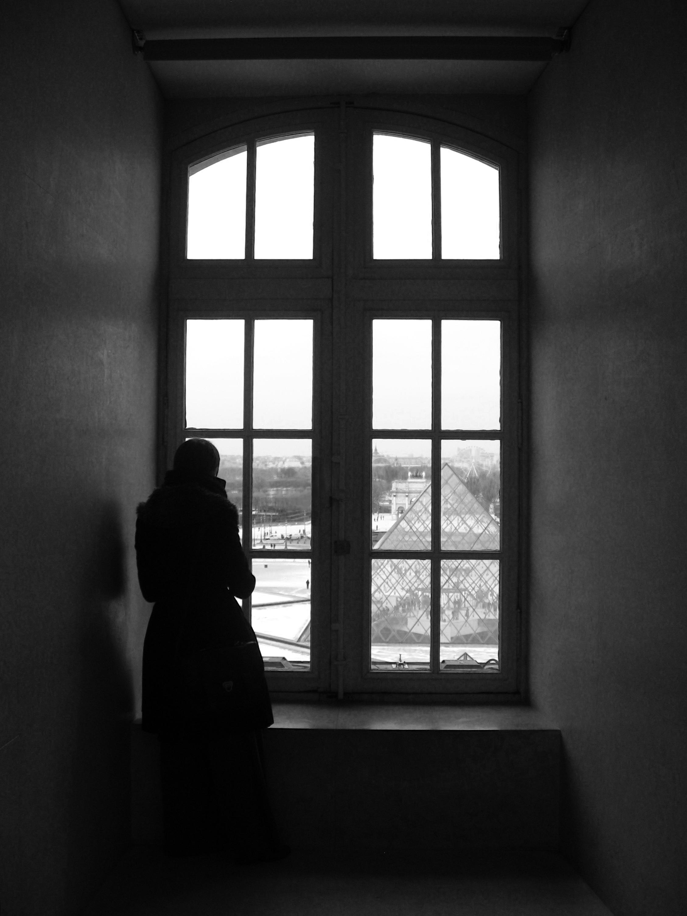 Gambar Cahaya Hitam Dan Putih Rumah Jendela Bayangan