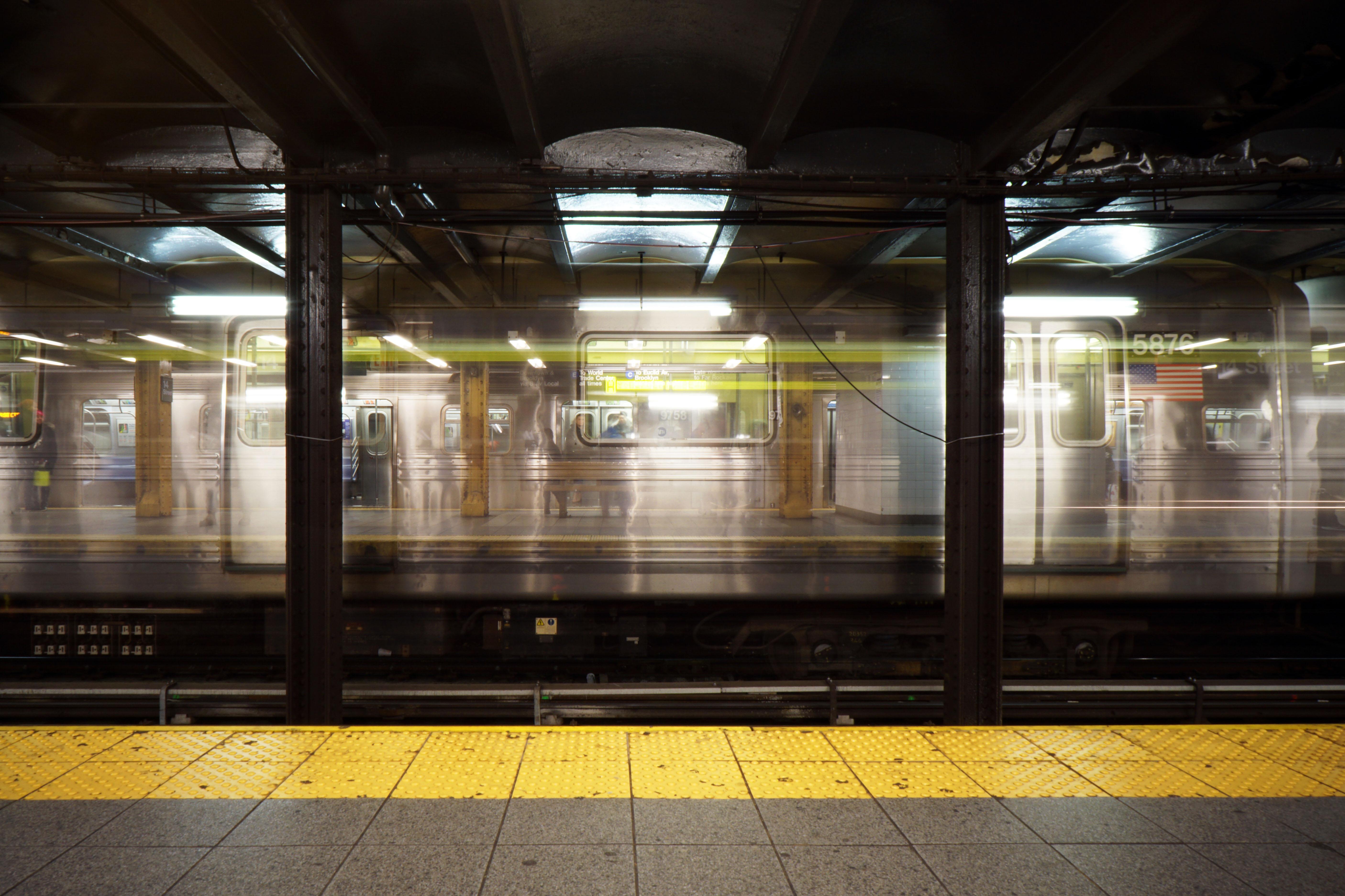 Free Images light blur night subway motion vehicle train