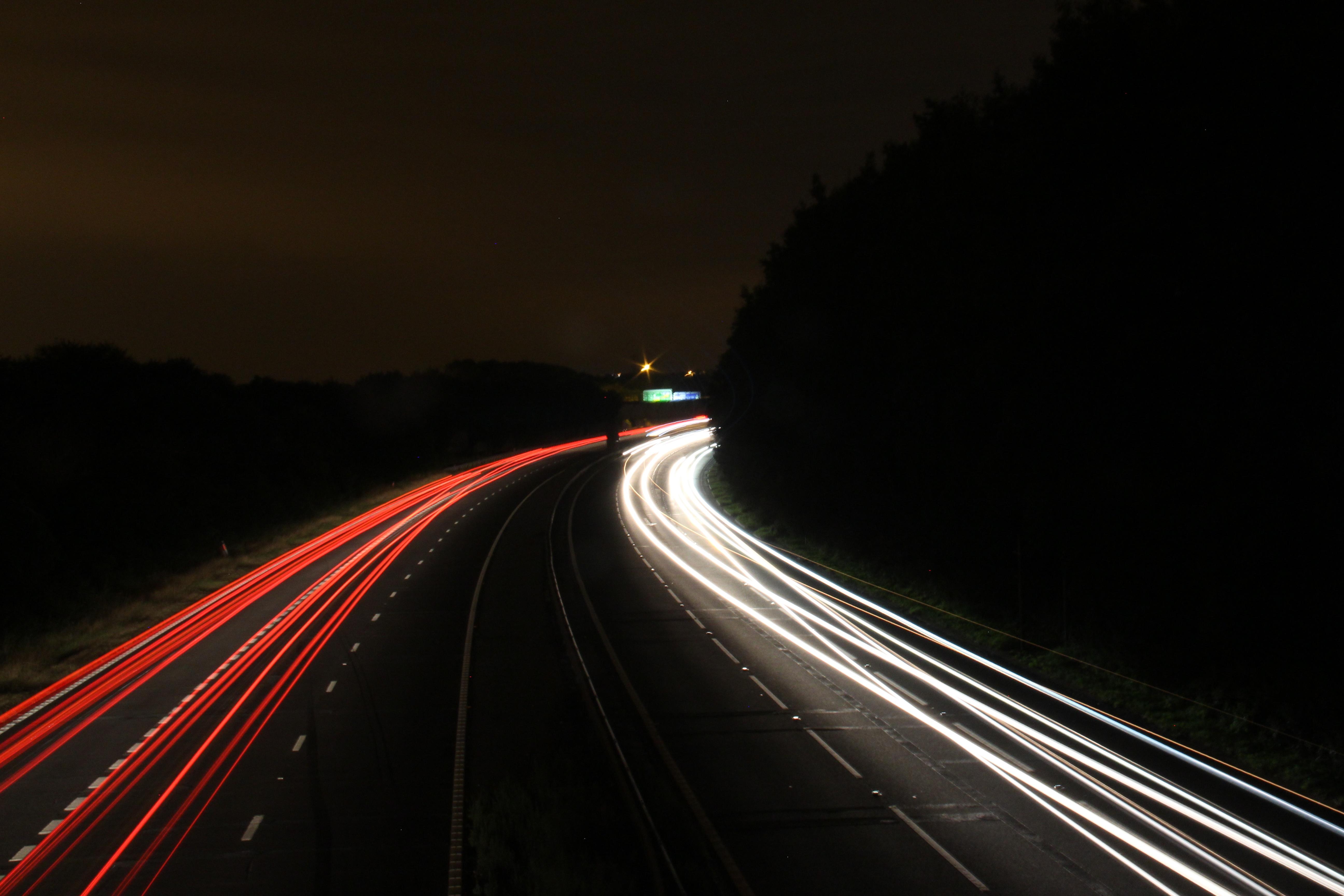 Картинки дорога машина ночь