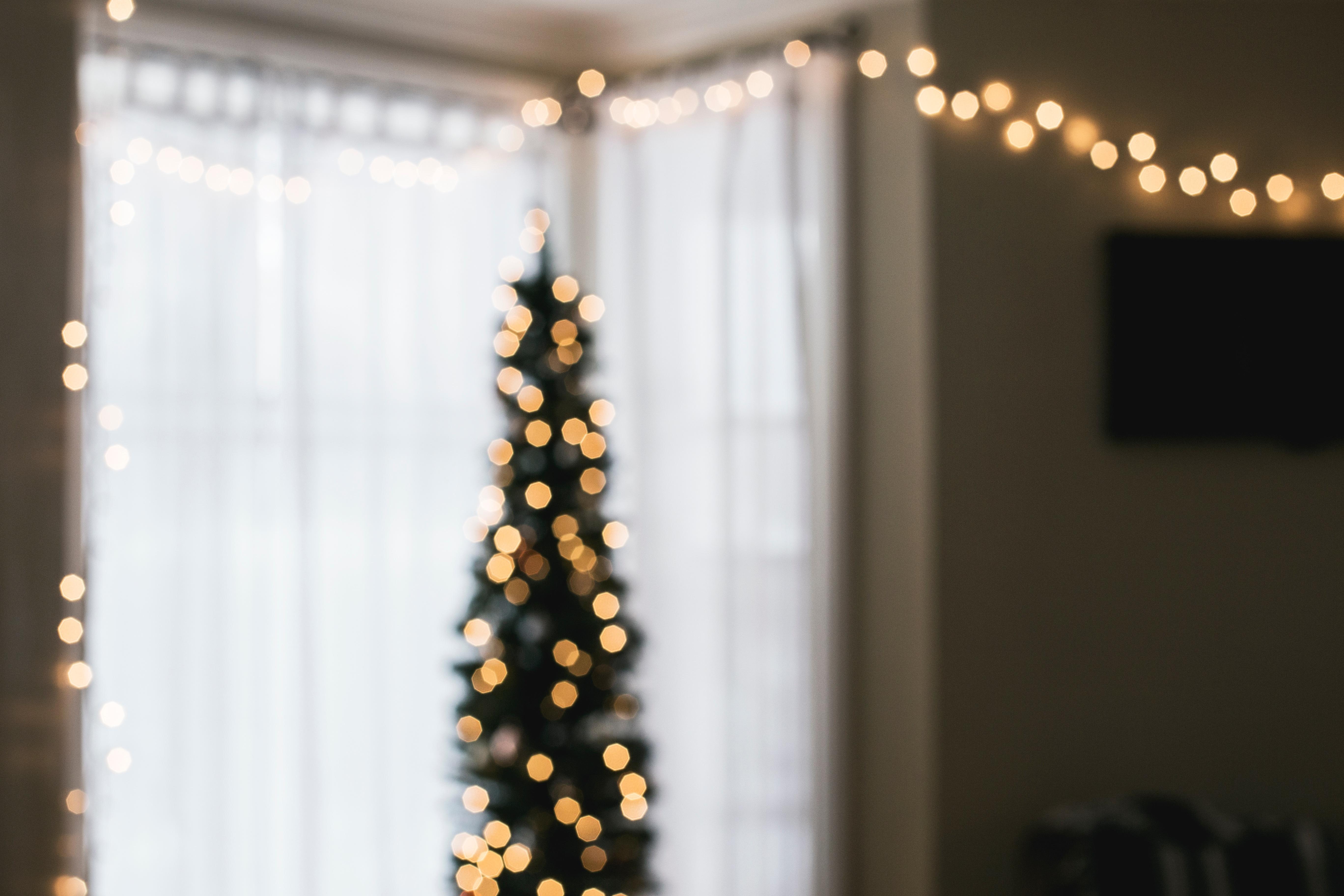 light bokeh flower yellow christmas lighting decor christmas tree festive fairy lights interior design christmas decoration