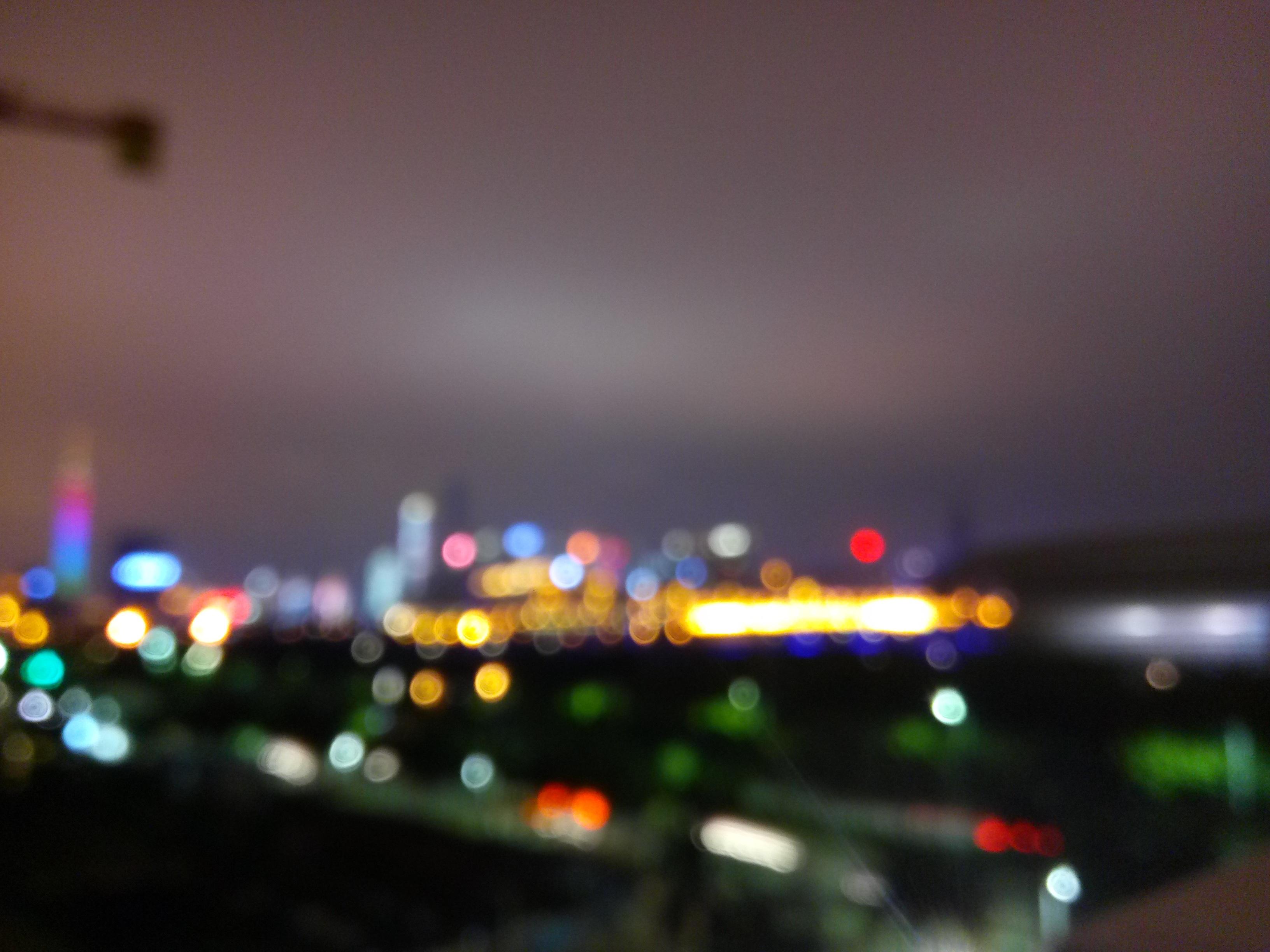 Light Bokeh Skyline Night Lighting Neon Canton Shape City Lights Atmosphere  Of Earth