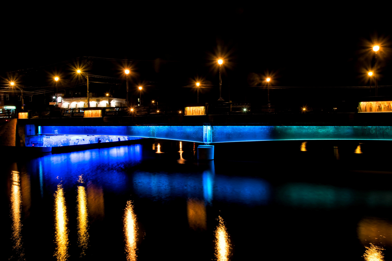 Fotoğraf ışık Köprü Gece Cityscape Akşam Karanlığı Yansıma