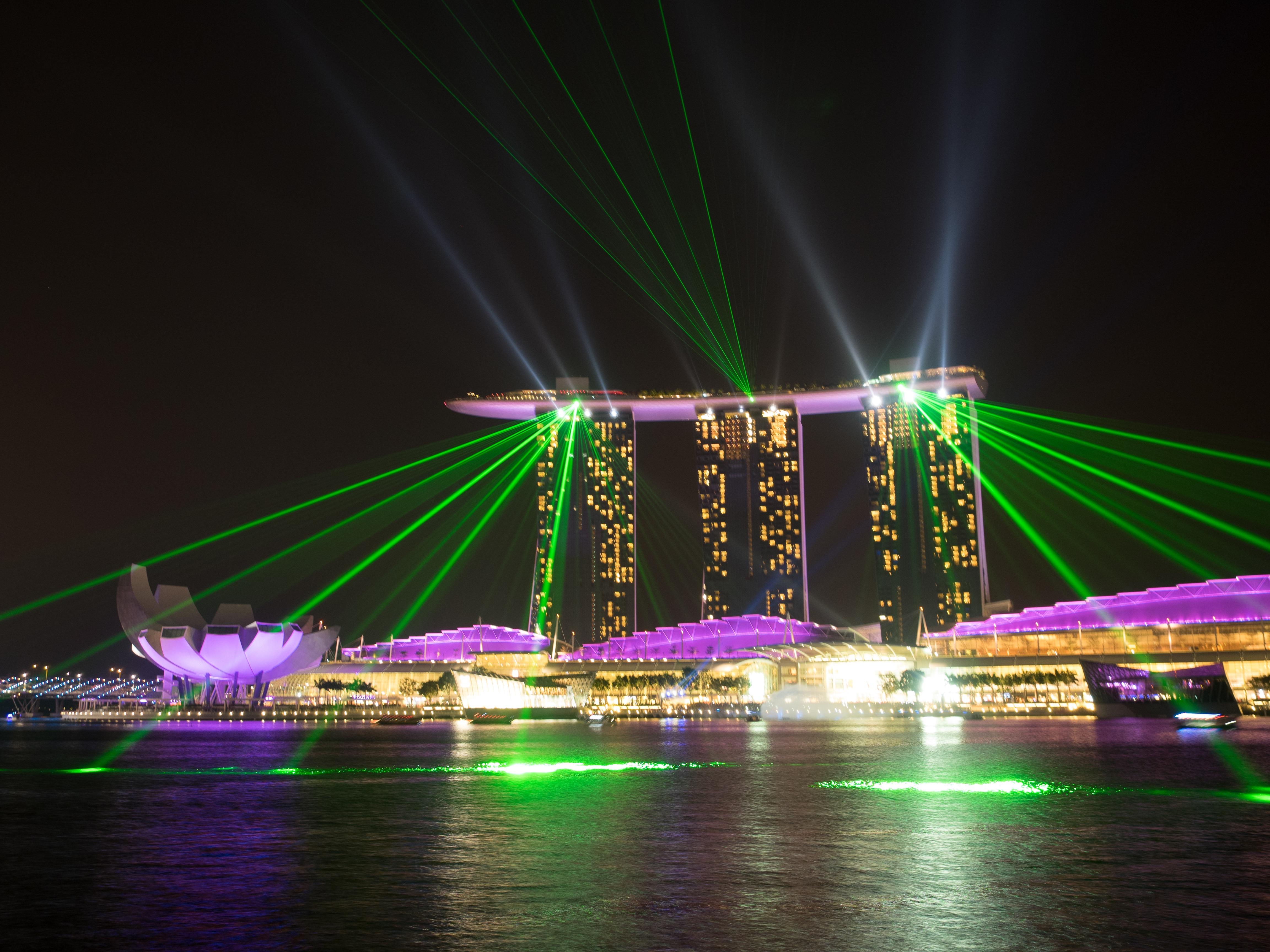 free images bridge night cityscape ferris wheel light show