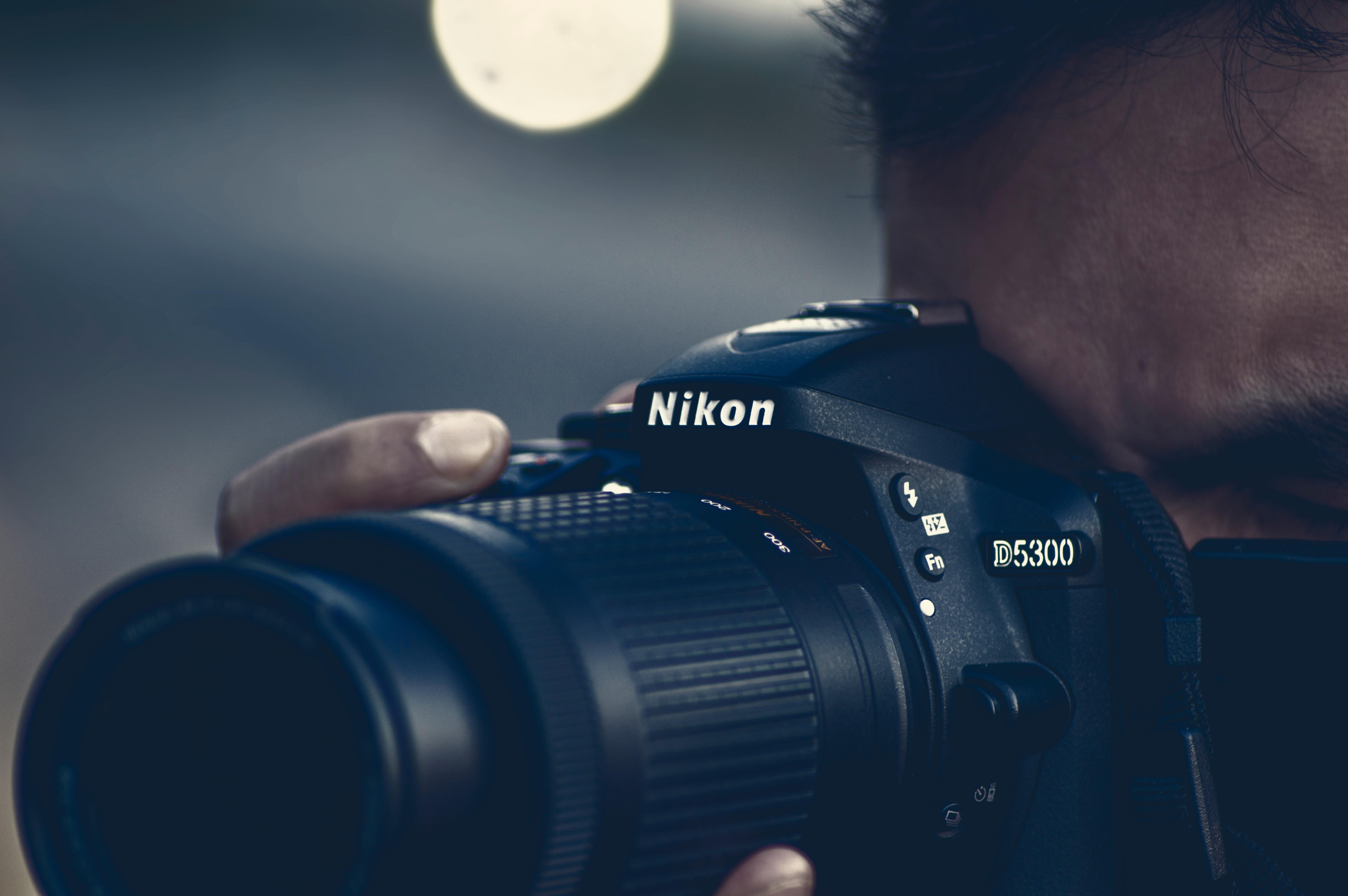 Fotos gratis : ligero, fotografía, azul, de cerca, Cámara réflex ...