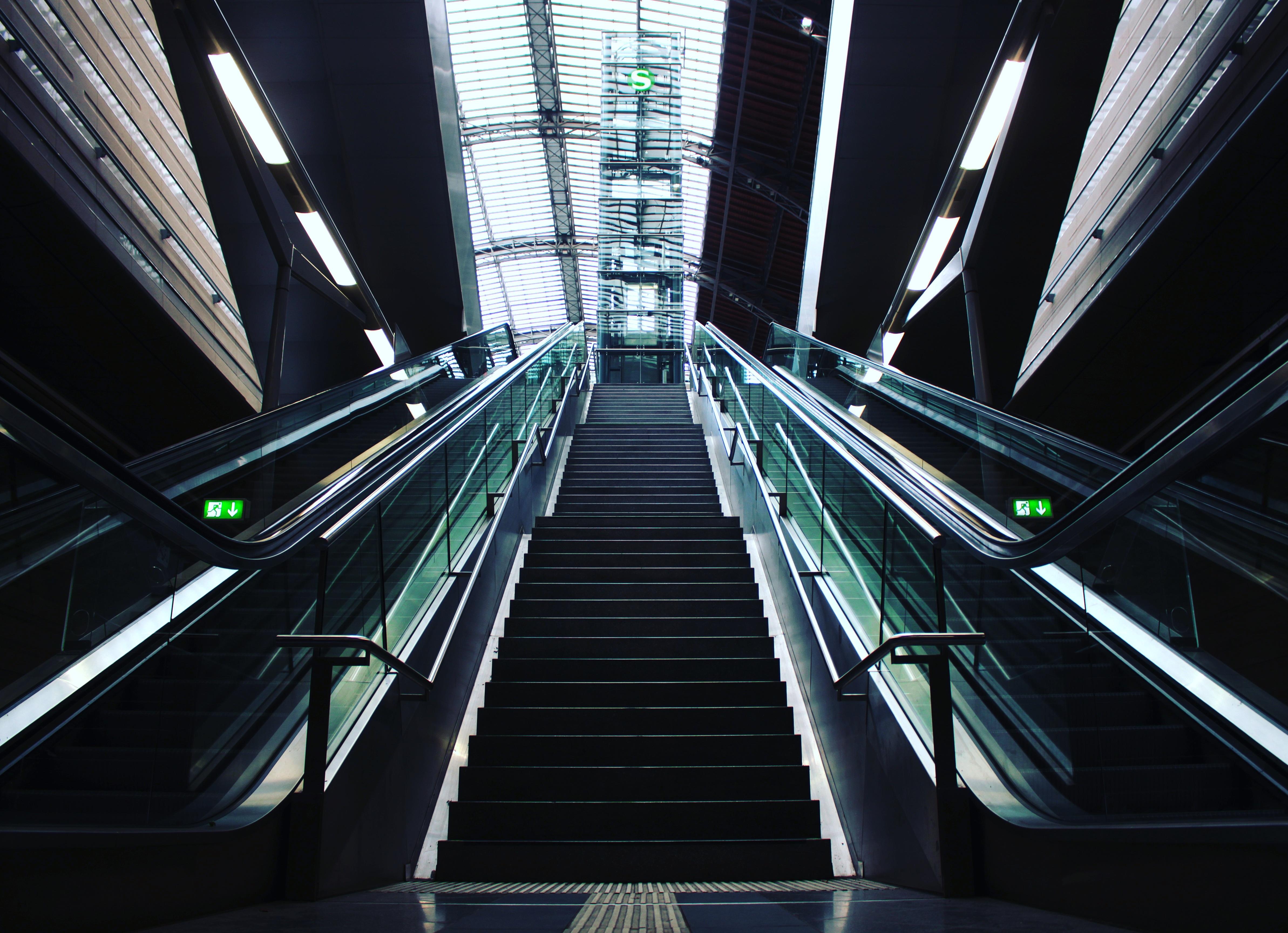Free Images Light City Escalator Line Modern Public