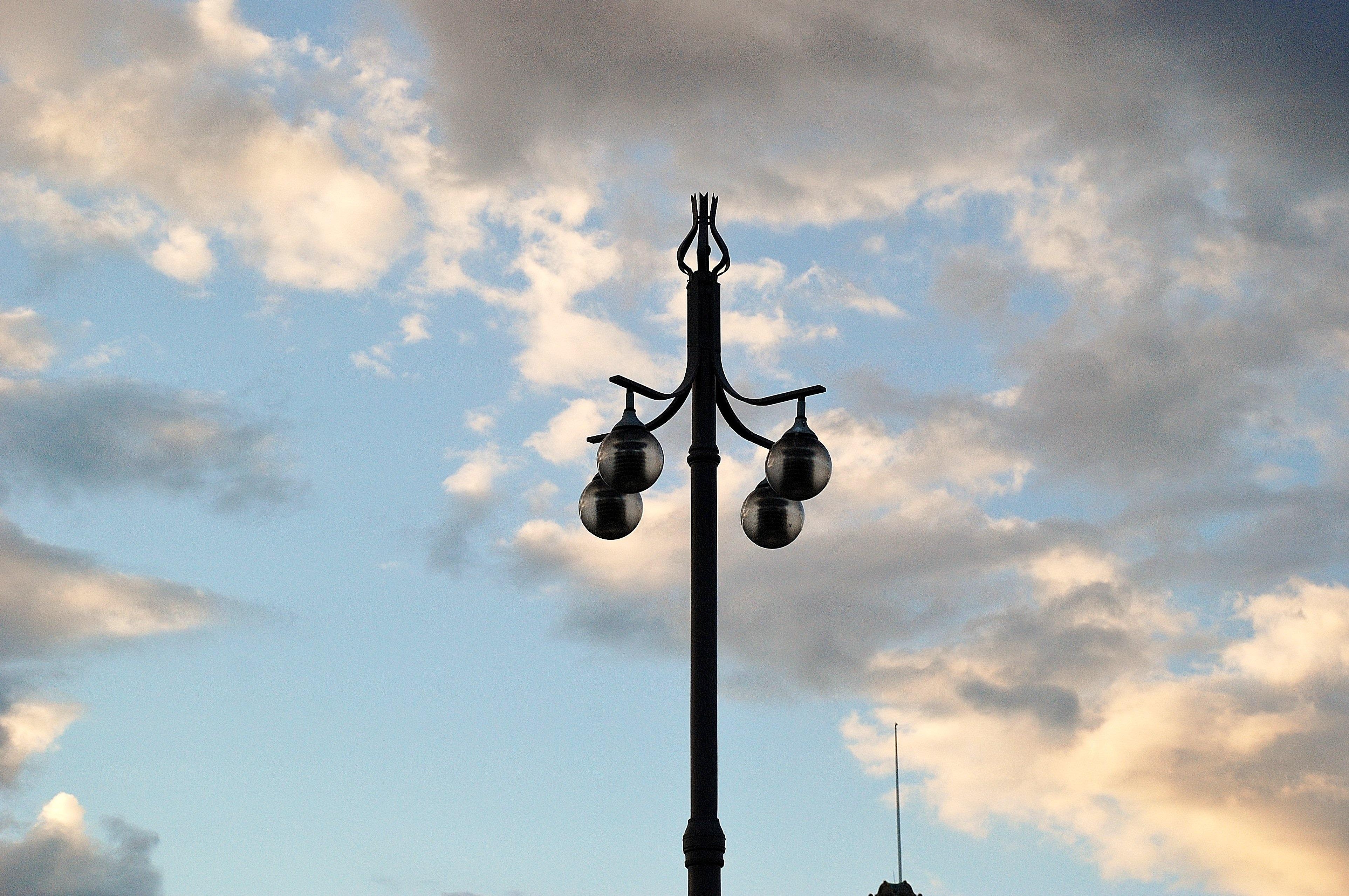 Free Images Cloud Sky Sunlight Wind Old Lantern Mast Wiring A Lamp Earth Light Street Machine Blue Hanging Lighting