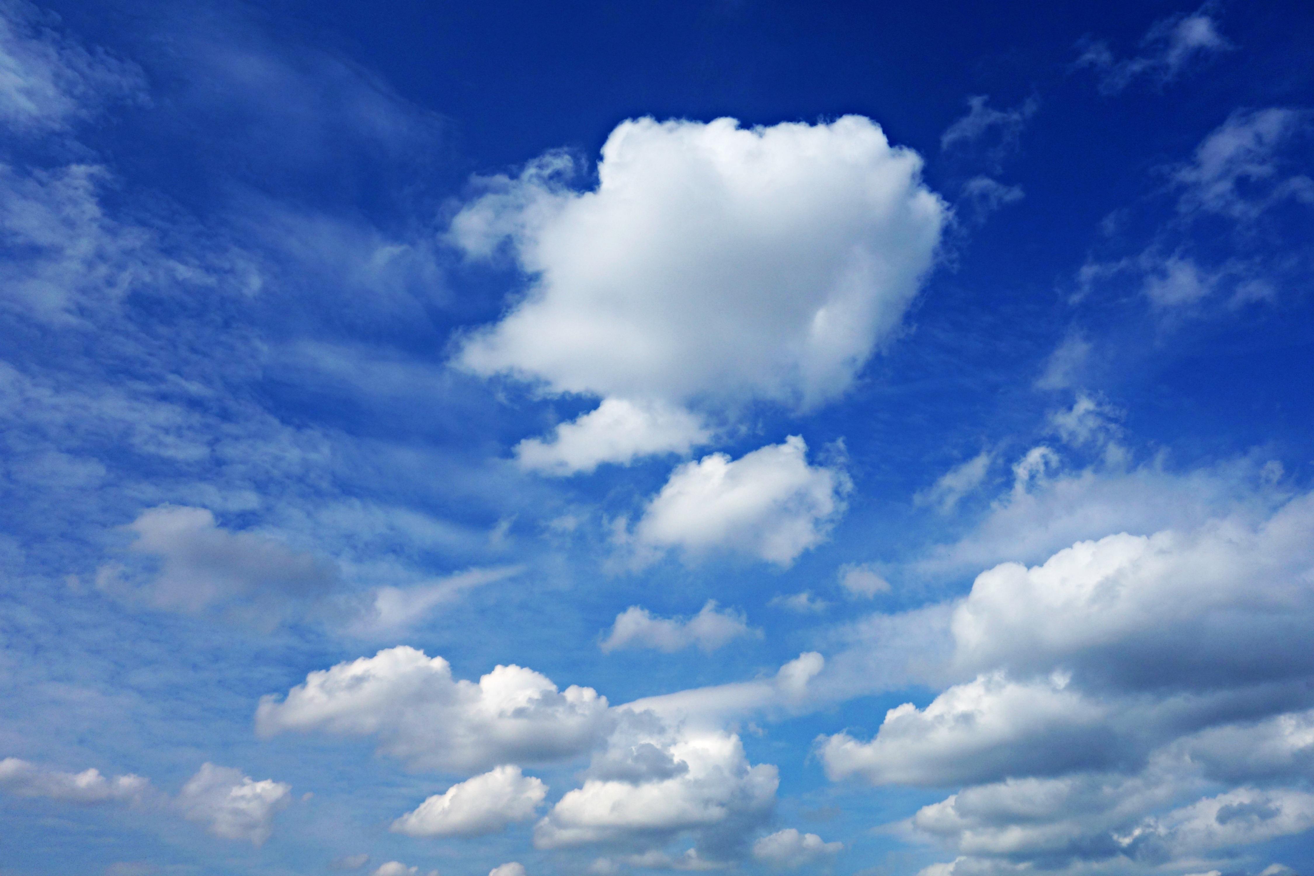 Fotos E Imagenes Cielo Azul Con Nubes: Fotos Gratis : Ligero, Nube, Cielo, Luz De Sol, Aire