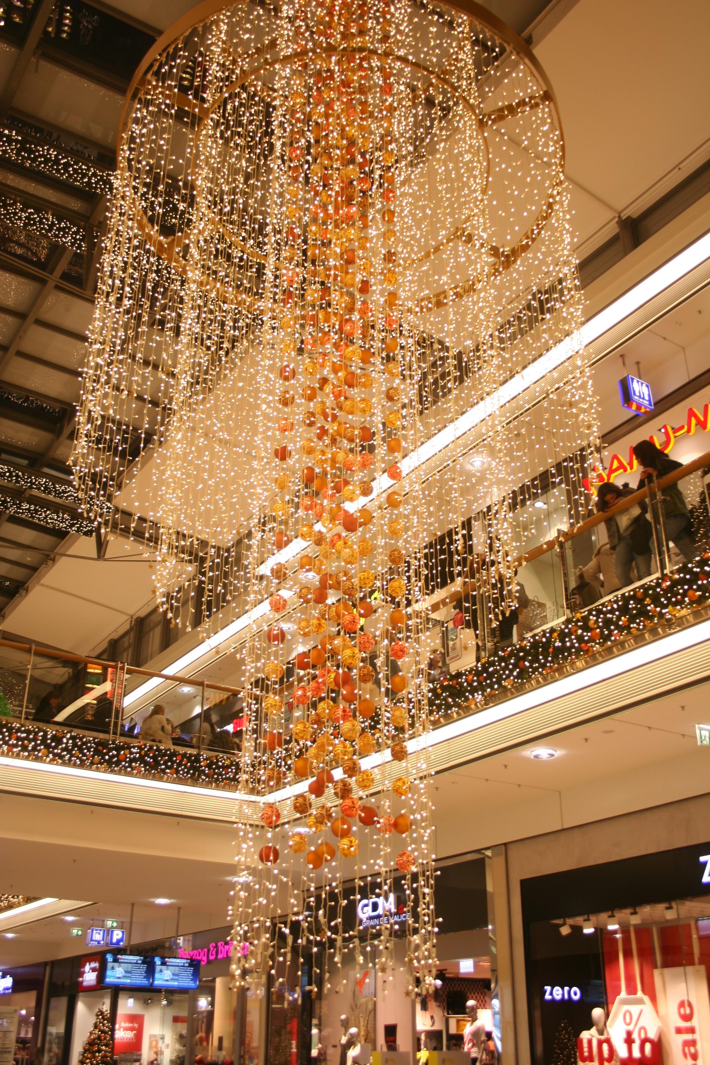 ligero centro de la ciudad decoracin fiesta compras navidad iluminacin decoracin rbol de navidad diseo de