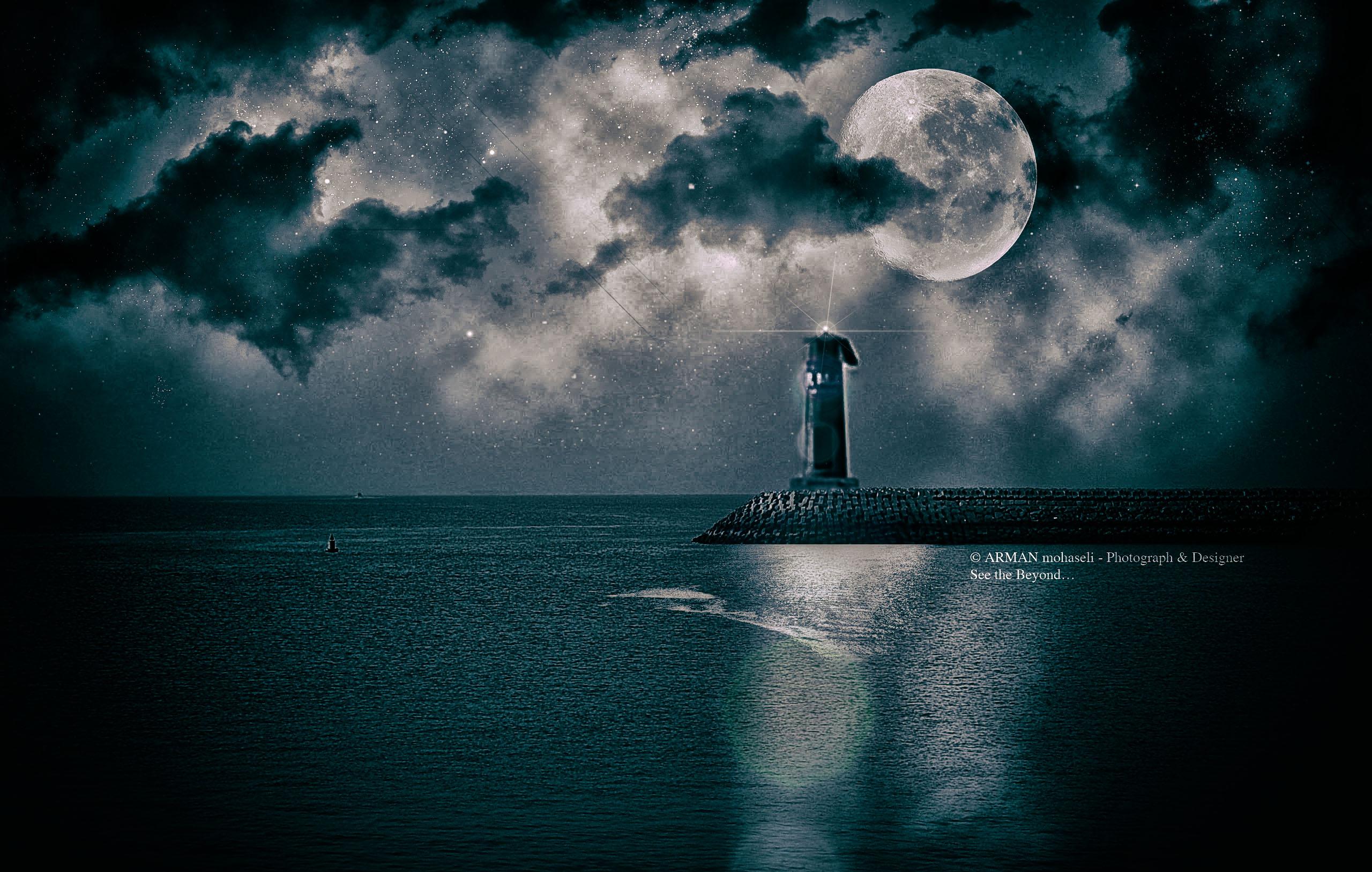 Immagini Belle Luce Casa Cielo Mare Atmosfera Chiaro Di Luna