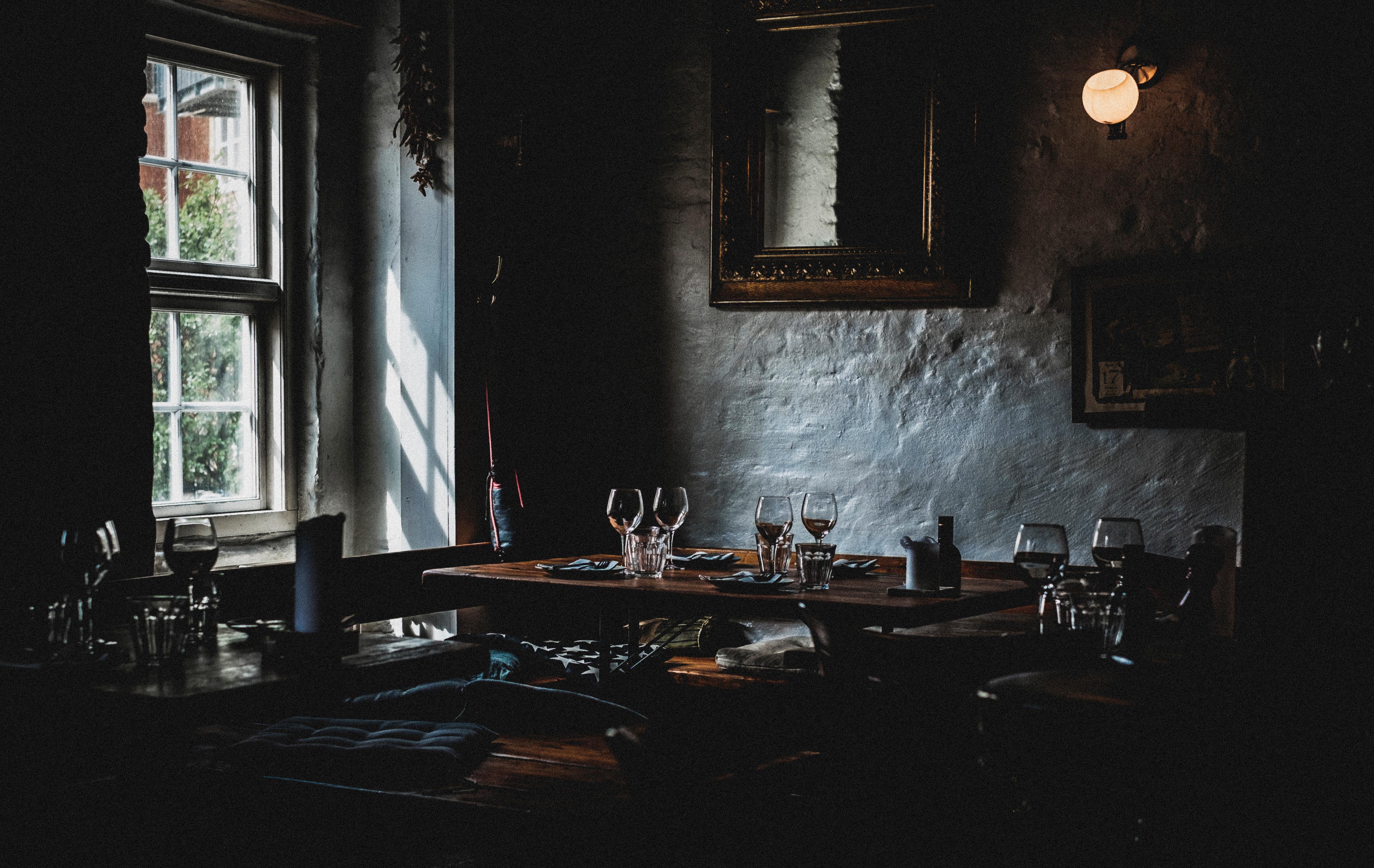 Free images light interior restaurant dark food