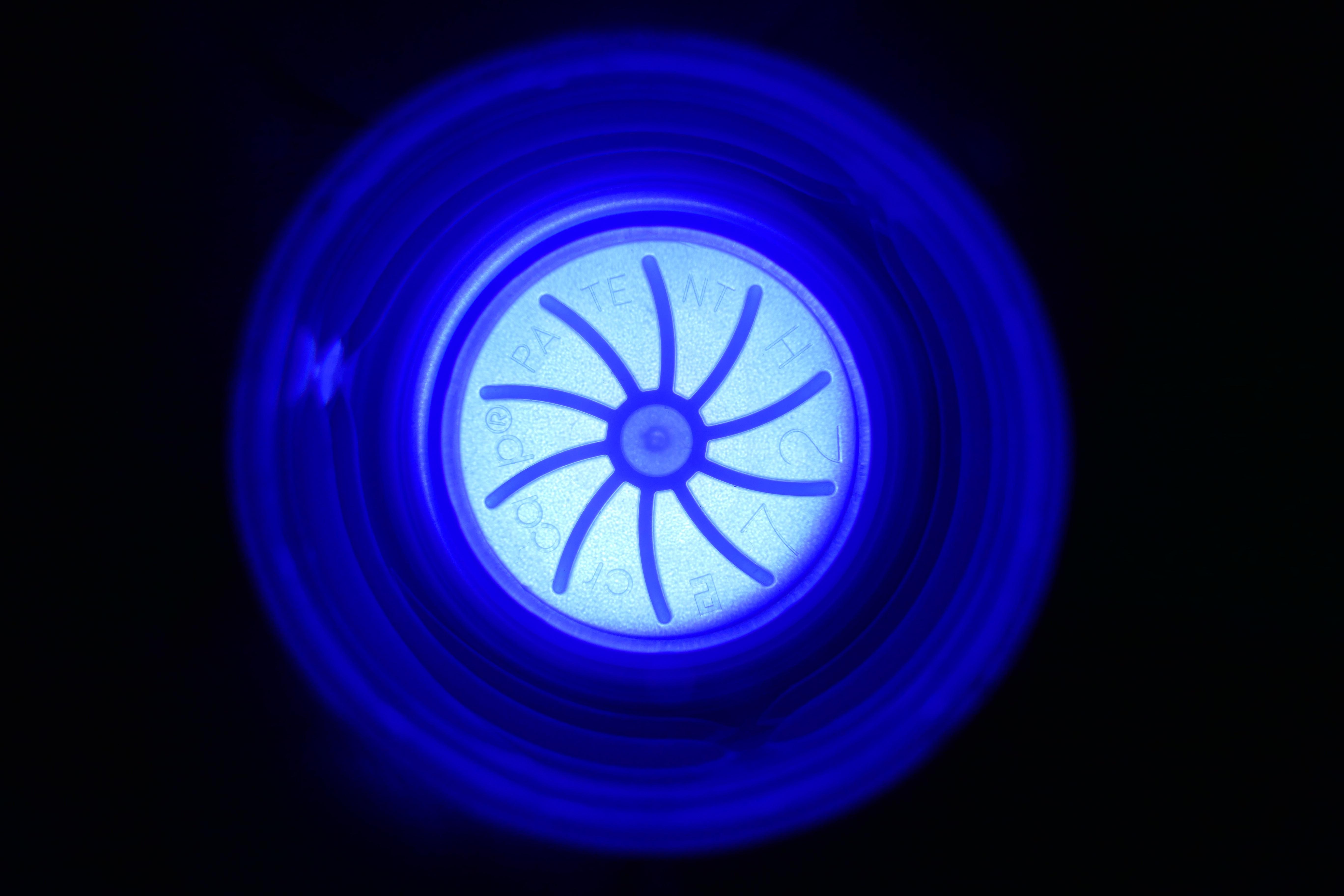 Immagini Belle Leggero Linea Colore Blu Cerchio Illuminato