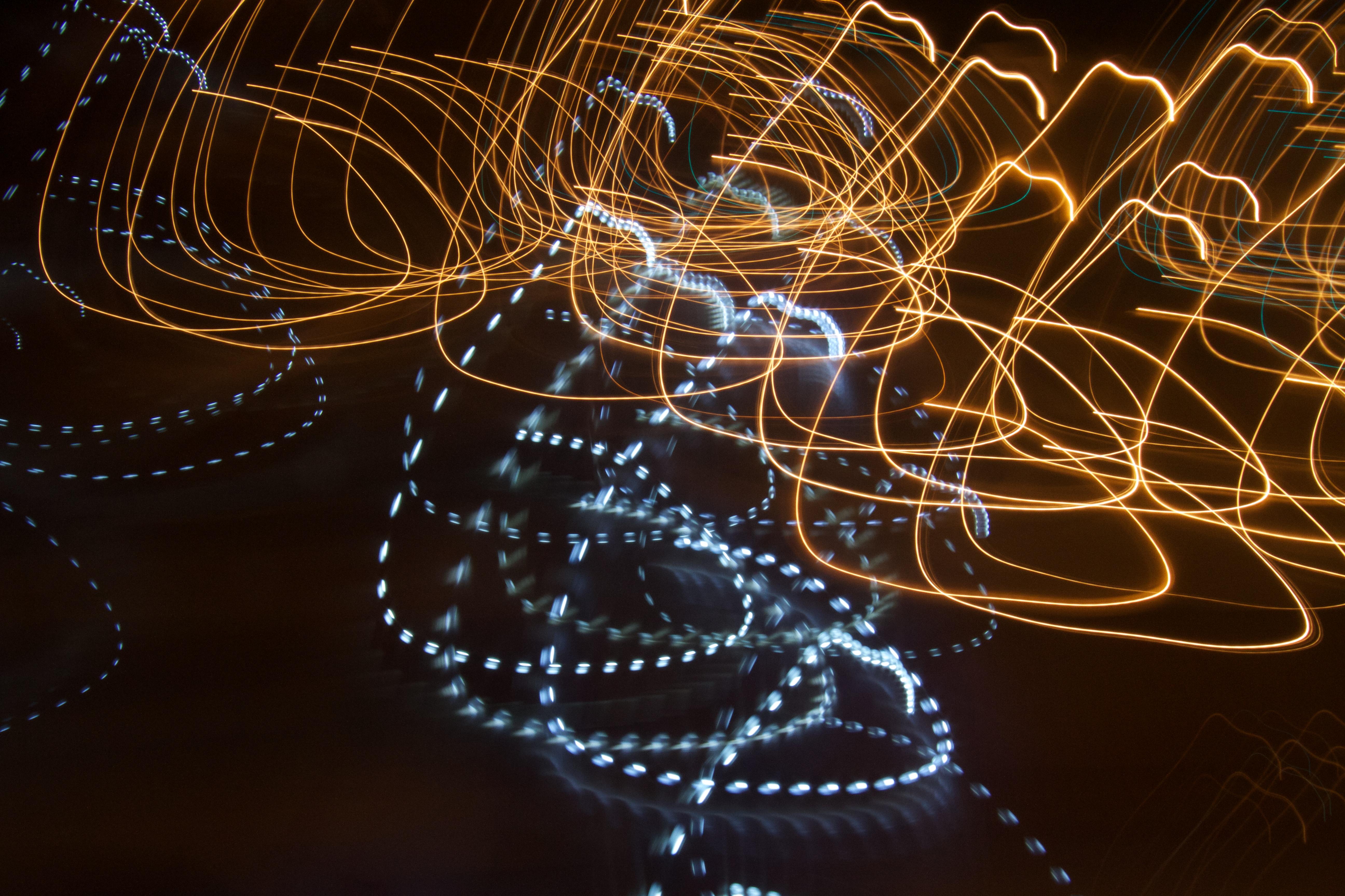 Light Line Darkness Material Circle Invertebrate Spider Web Lightpainting Symmetry Macro Photography Christmas Lights Fractal Art