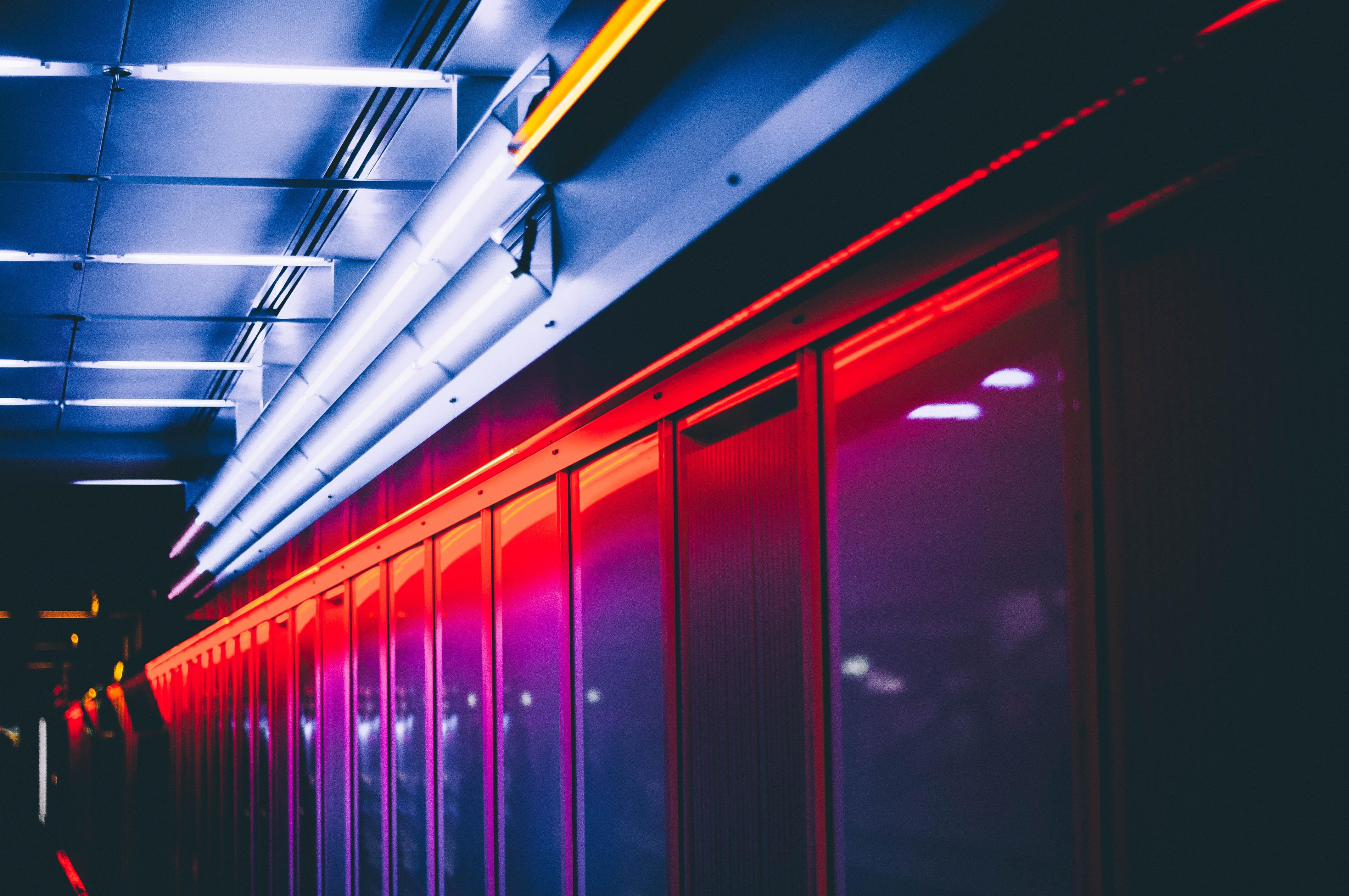Free Images : light, night, auditorium, line, red, color ...