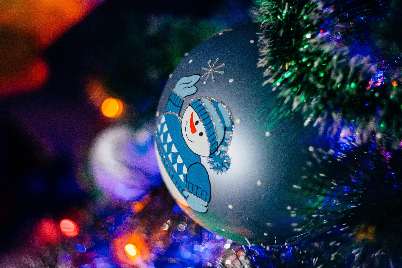 Free images : light night blue christmas tree close up