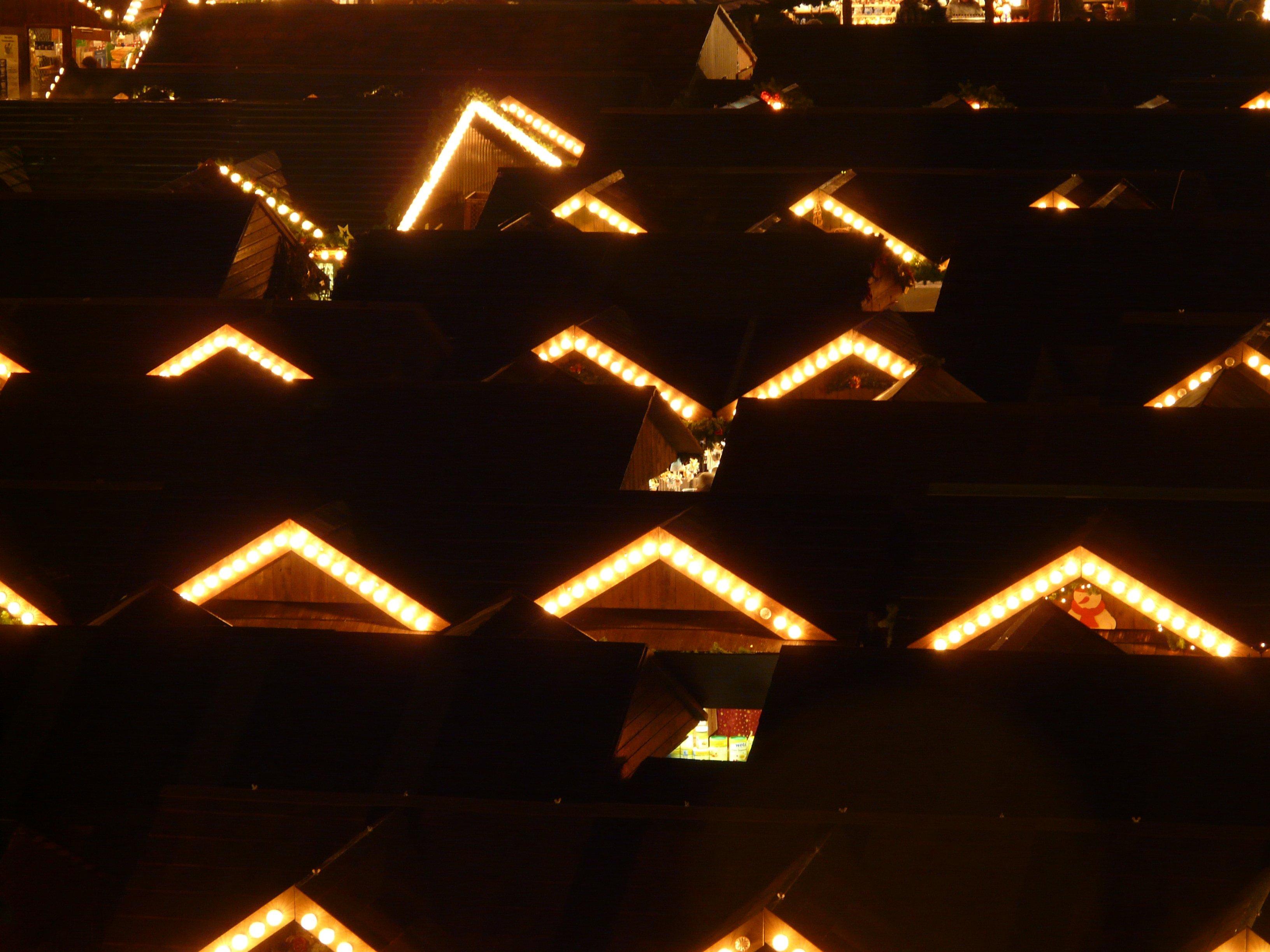 light night city human market christmas lighting christmas tree christmas decoration lights sale christmas market ulm