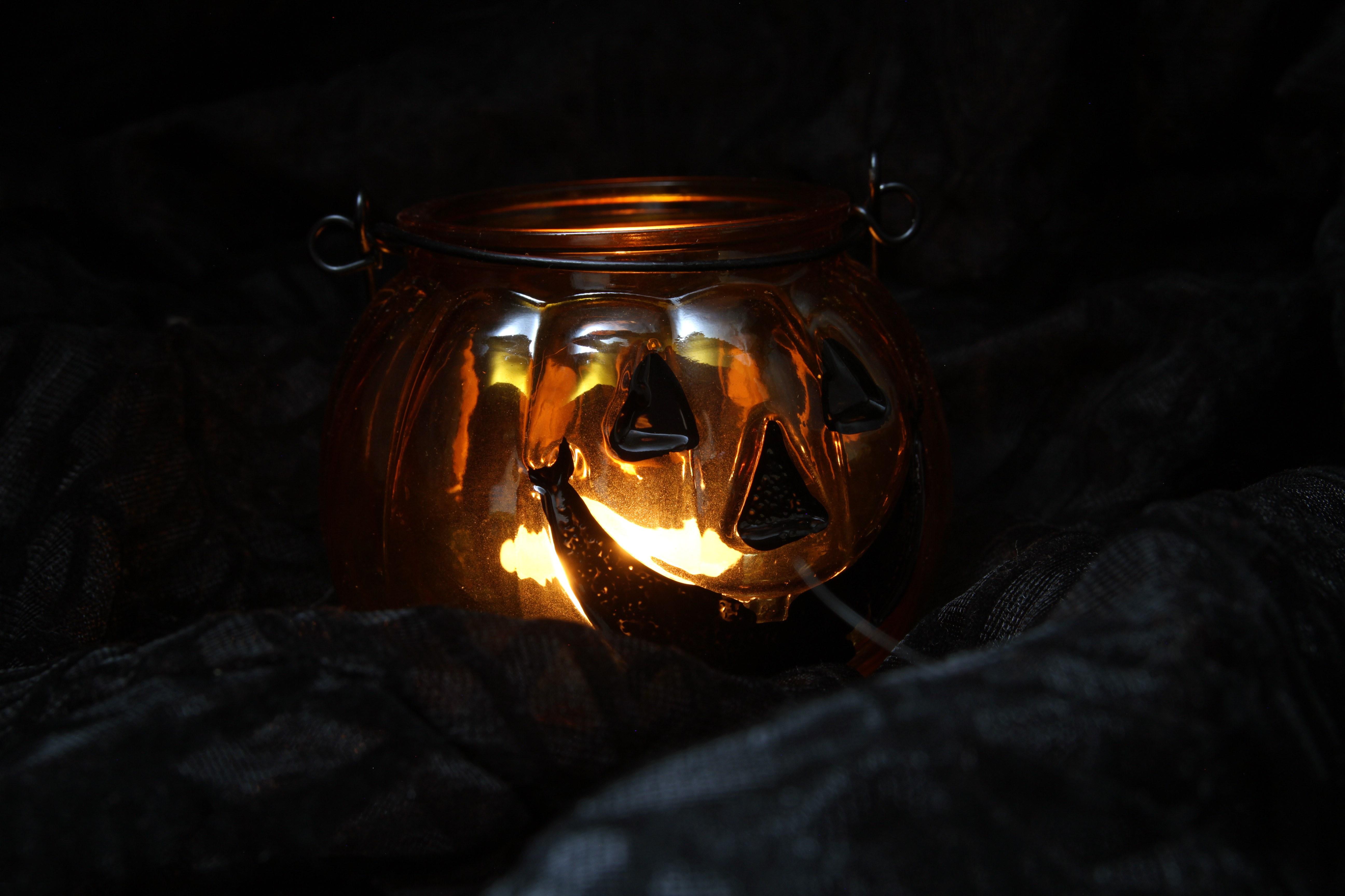 free images light night fall spooky lantern autumn halloween