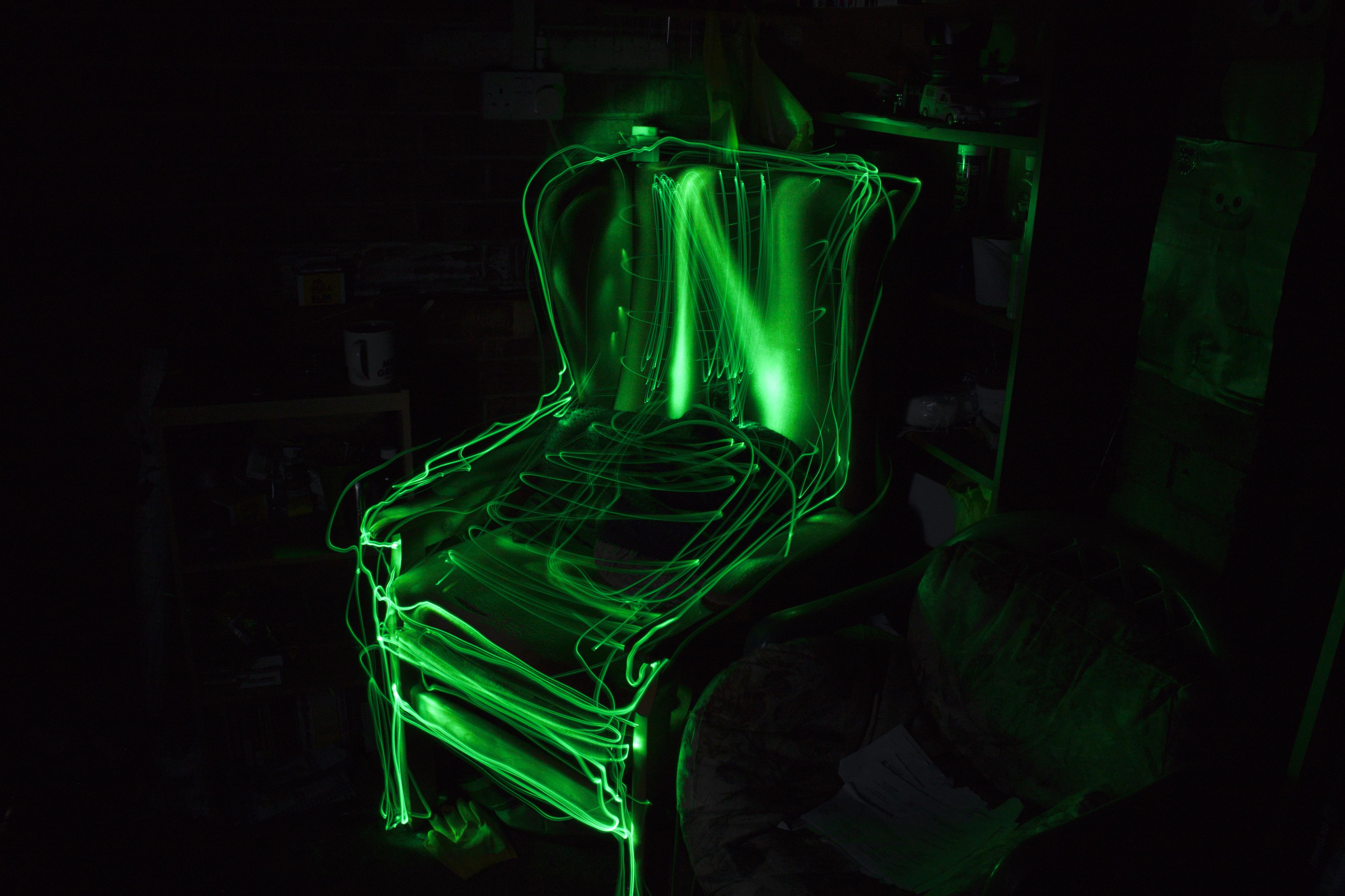 Immagini Belle Leggero Notte Verde Oscurità Illuminazione