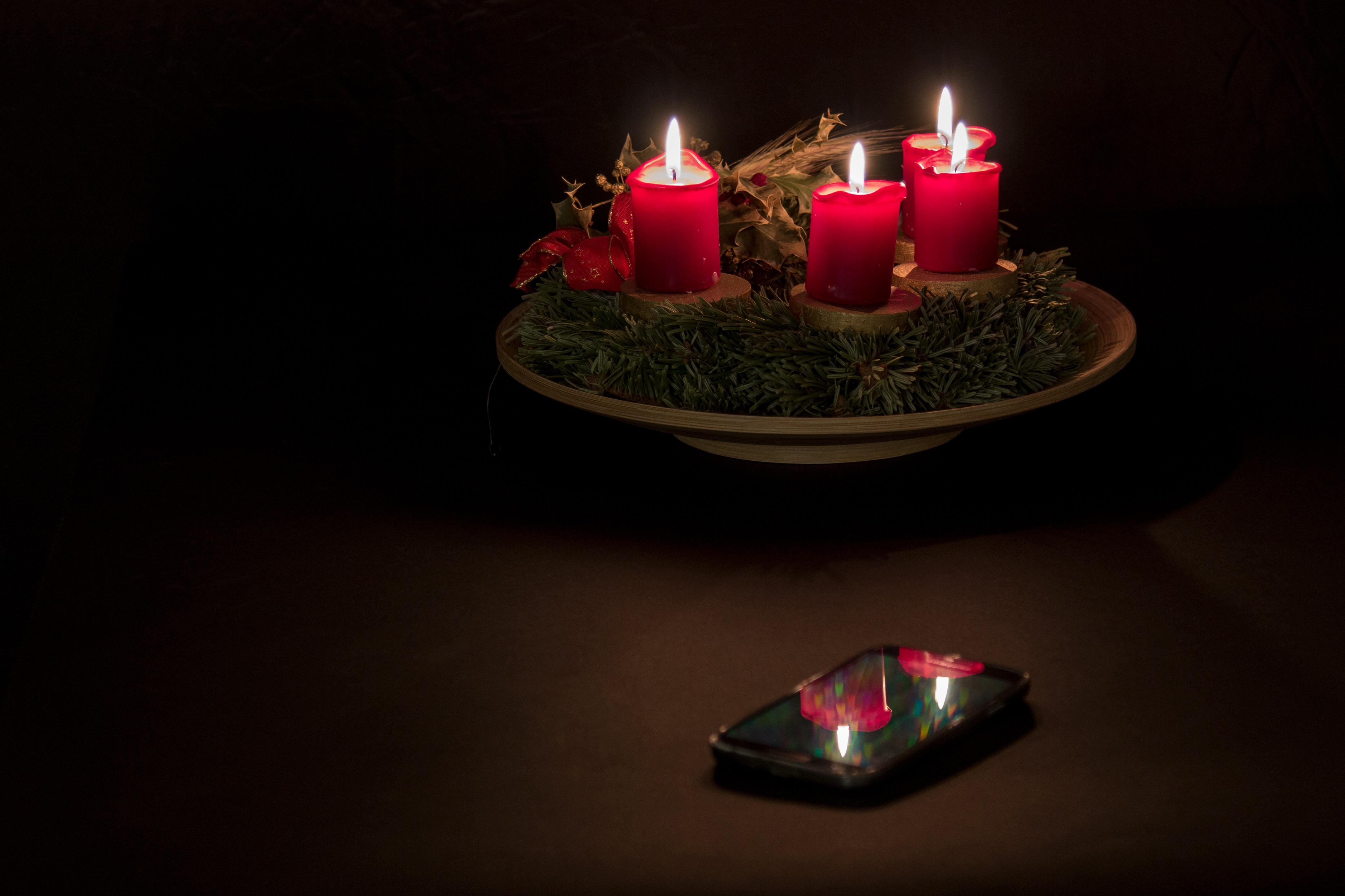 Adventskranz Bilder Kostenlos kostenlose foto licht nacht rot weihnachten beleuchtung