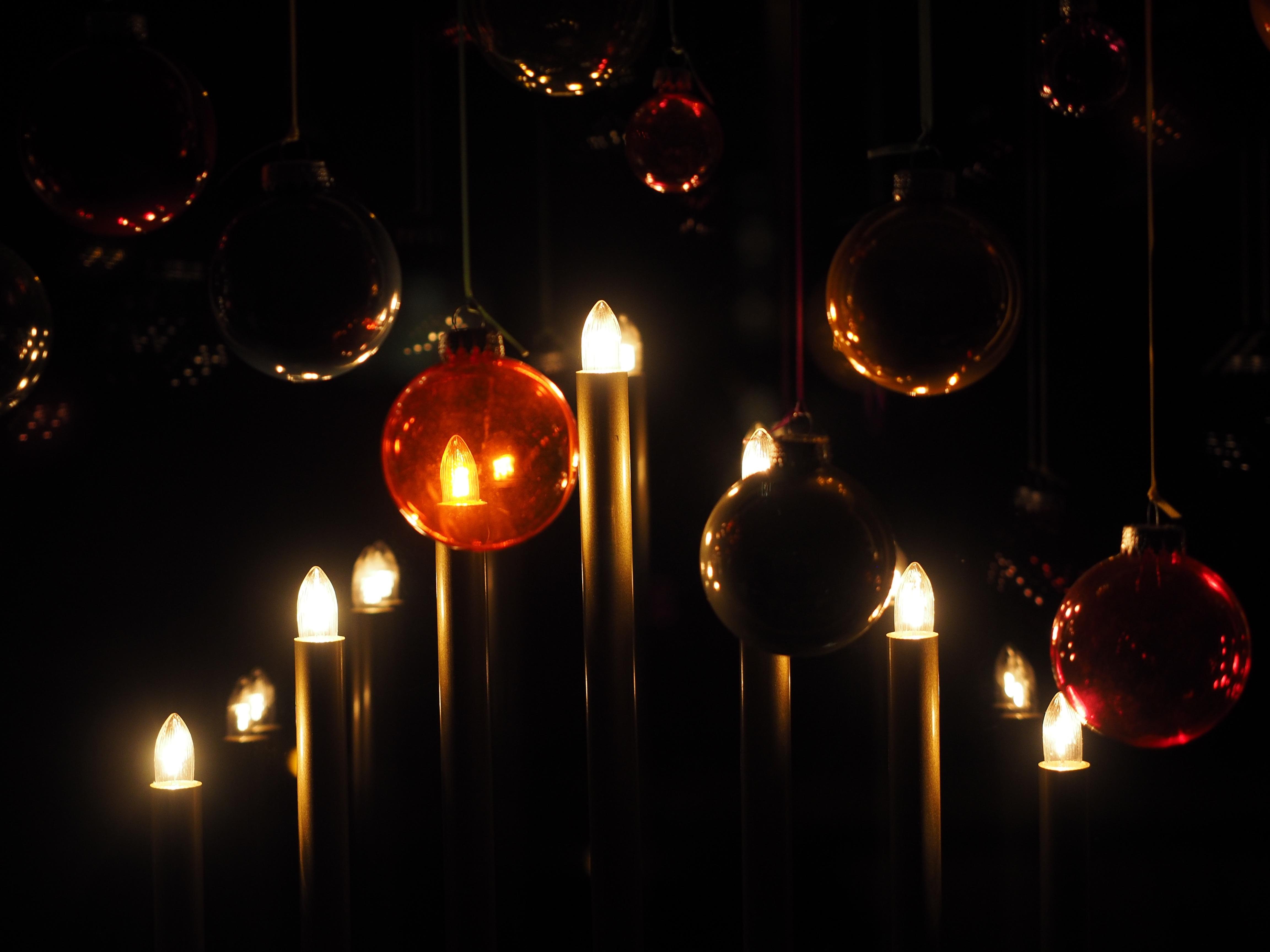 light night red darkness street light christmas lighting circle lights light fixture mood