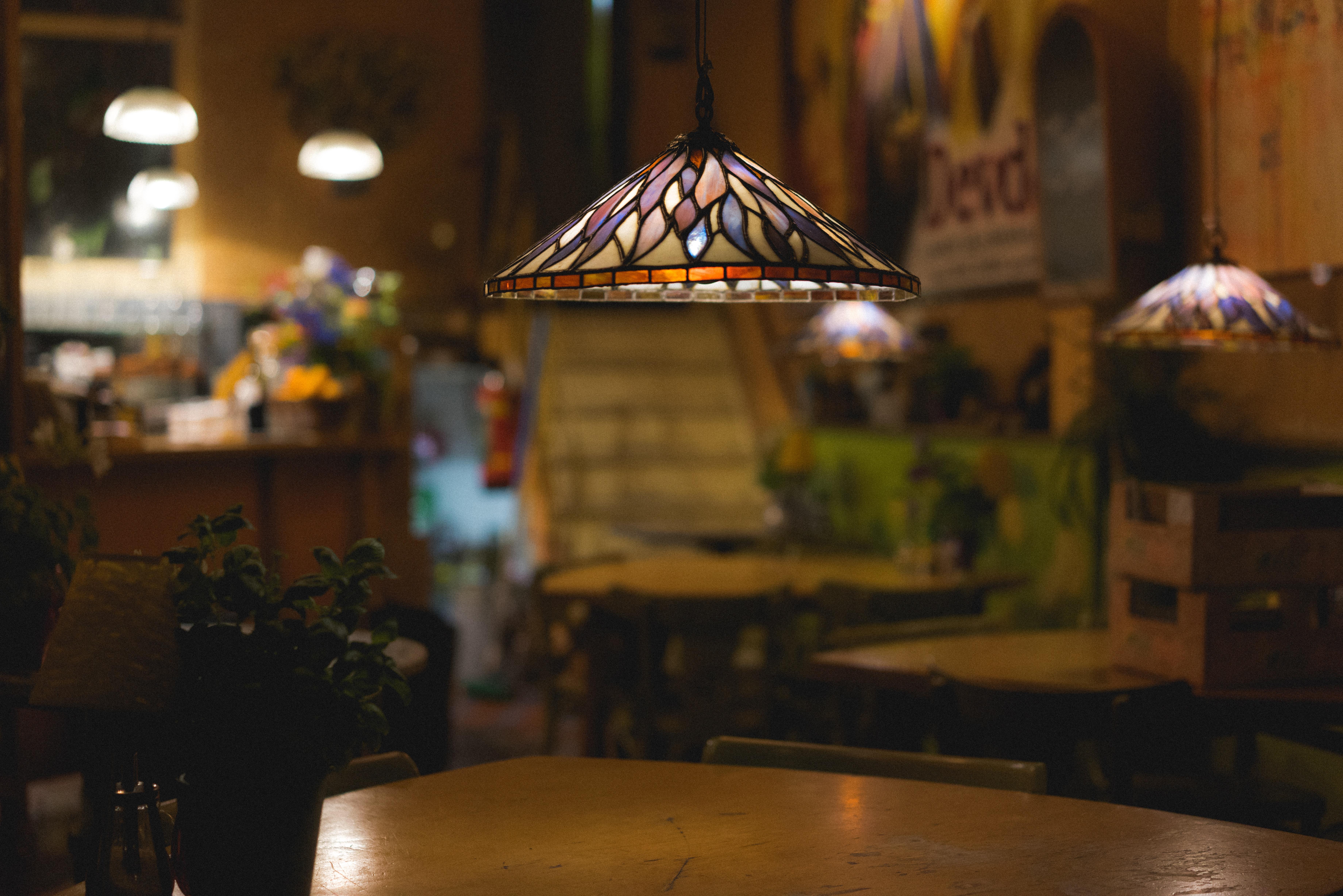 Gambar Cahaya Malam Restoran Bar Kap Lampu Penerangan Rumah