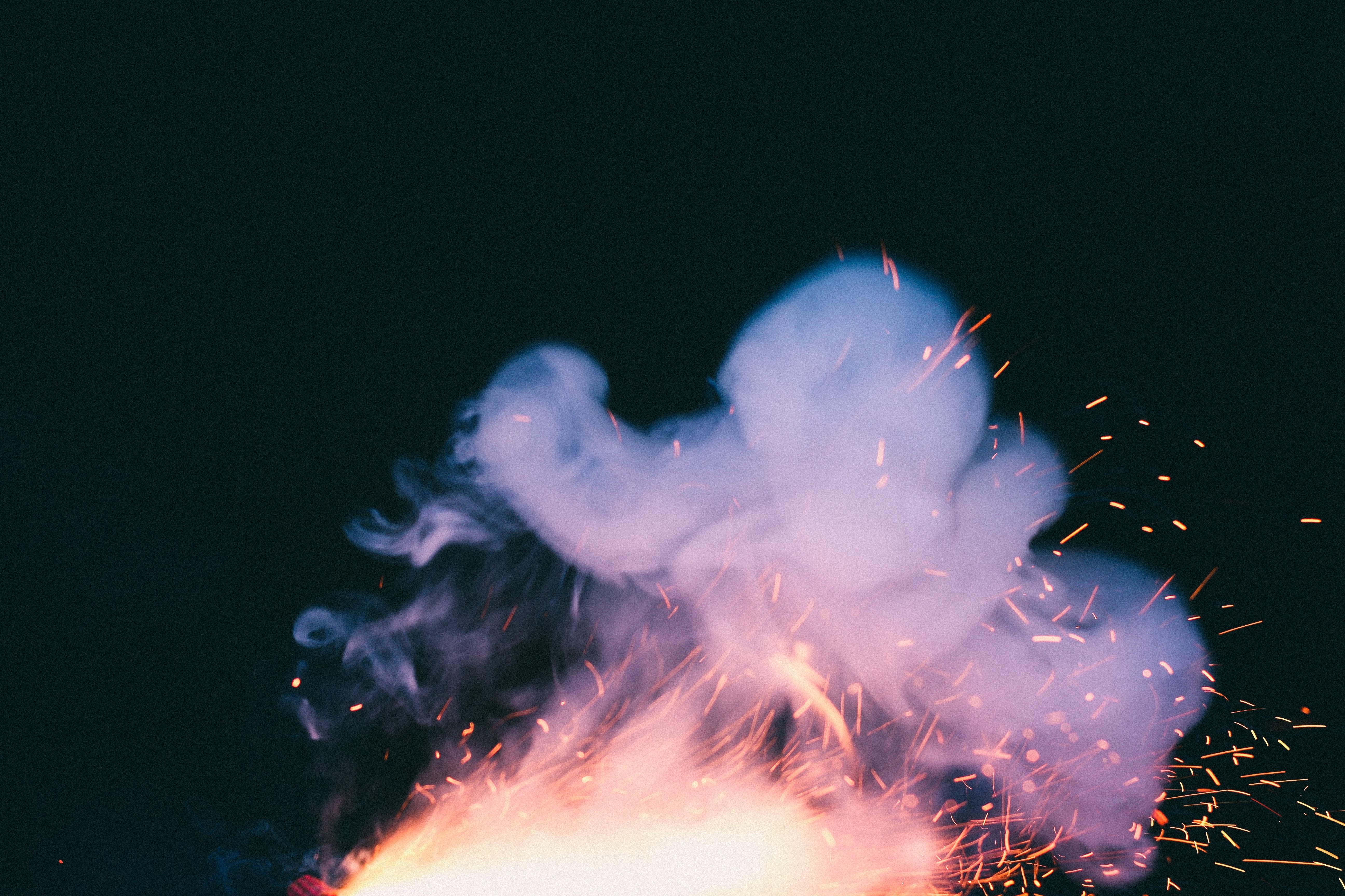 free images light night smoke reflection flame fire