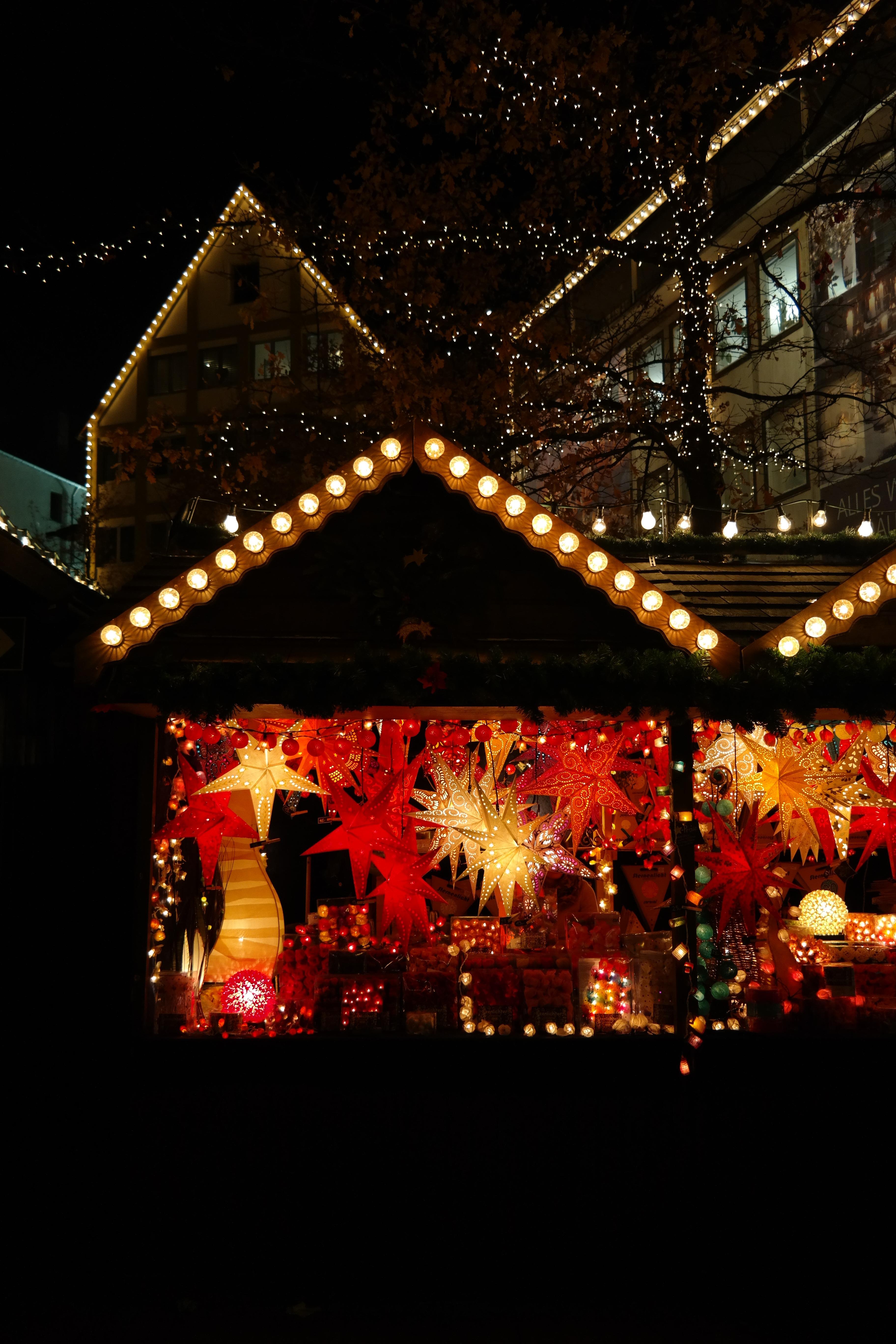 Gratis Afbeeldingen : licht, nacht, ster, vakantie, markt, Kerstmis ...