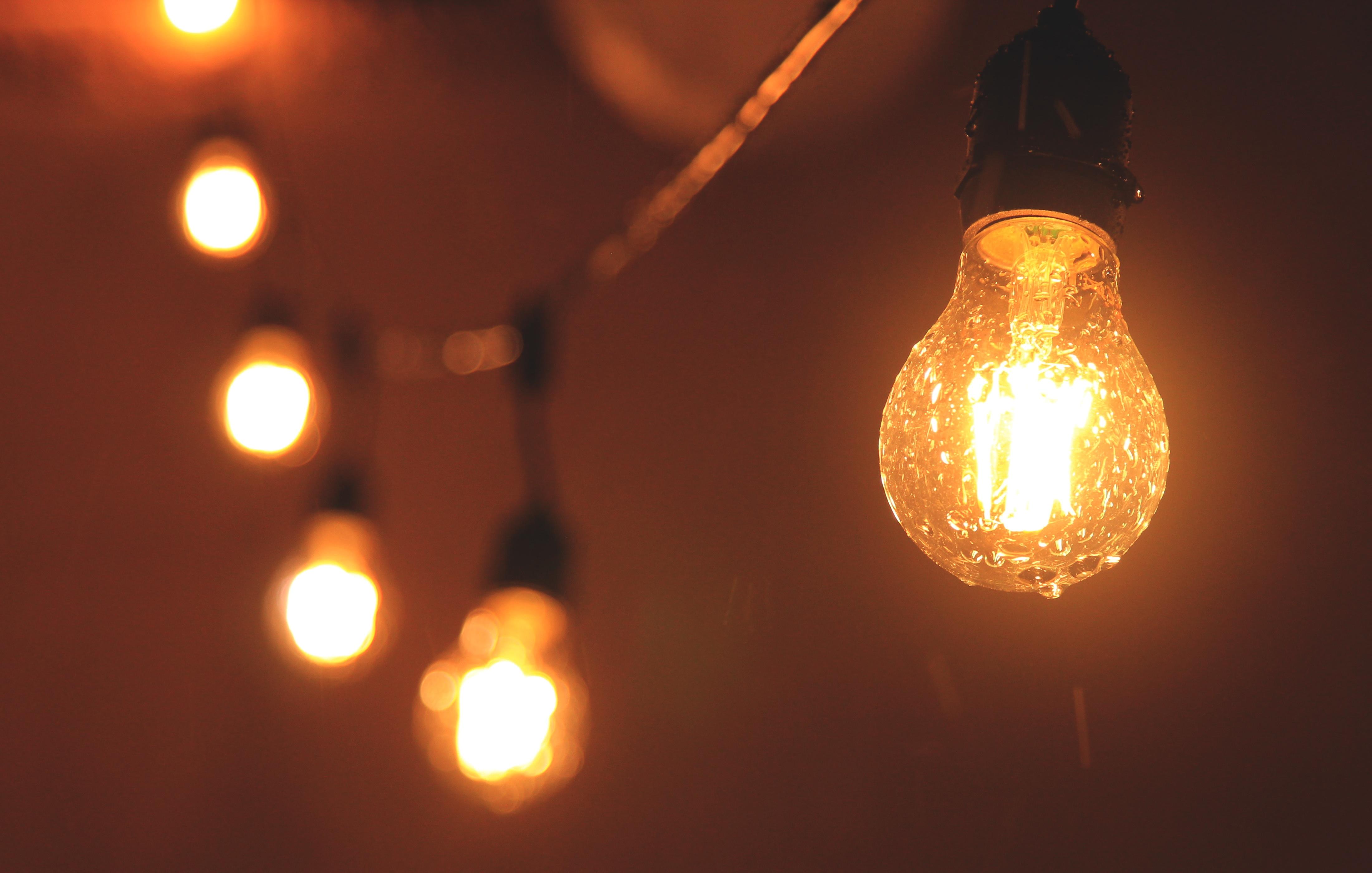 Красивая картинка с лампочками