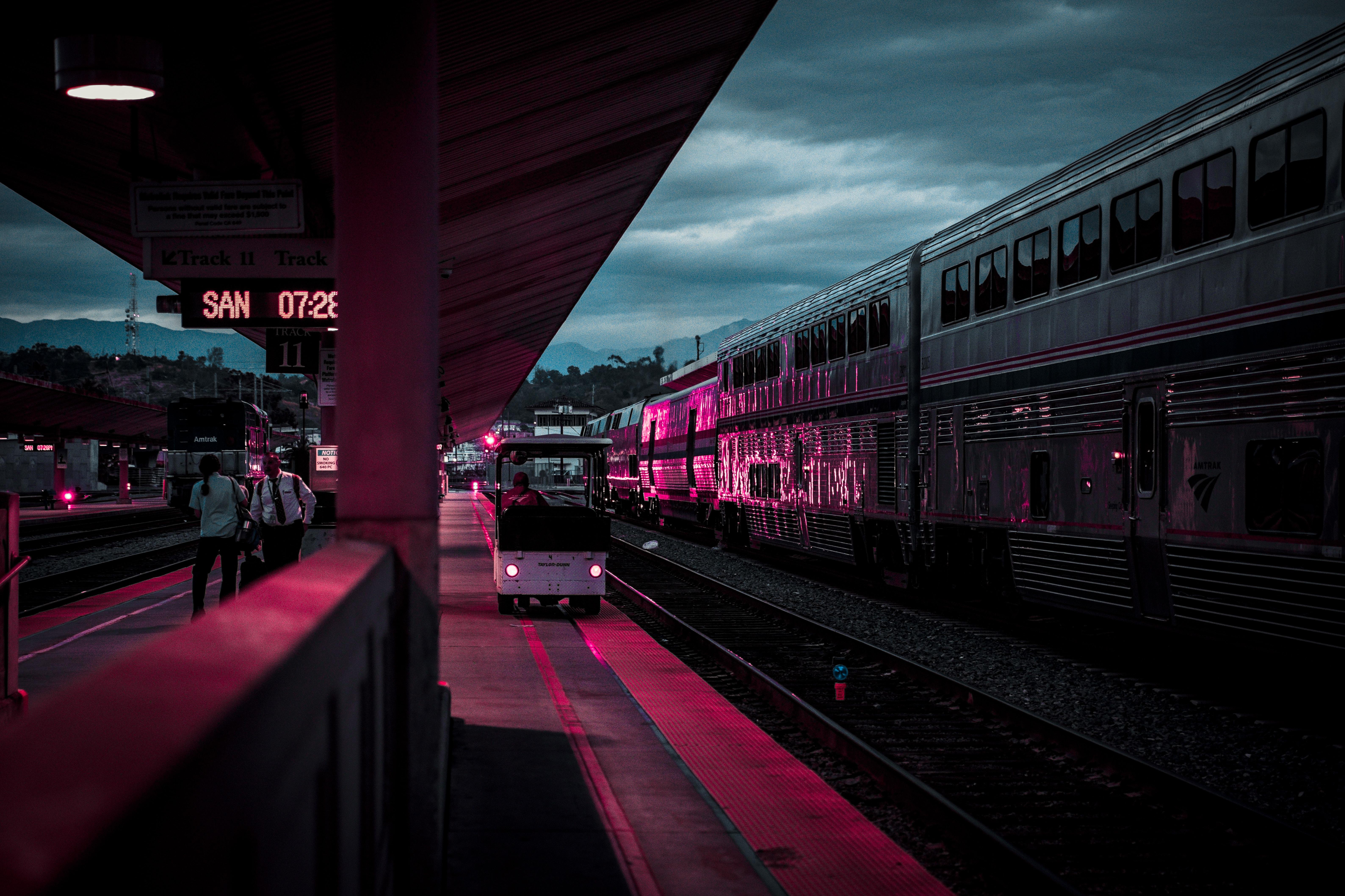 фотографию красивое фото ночные поезда предыдущем посте уже