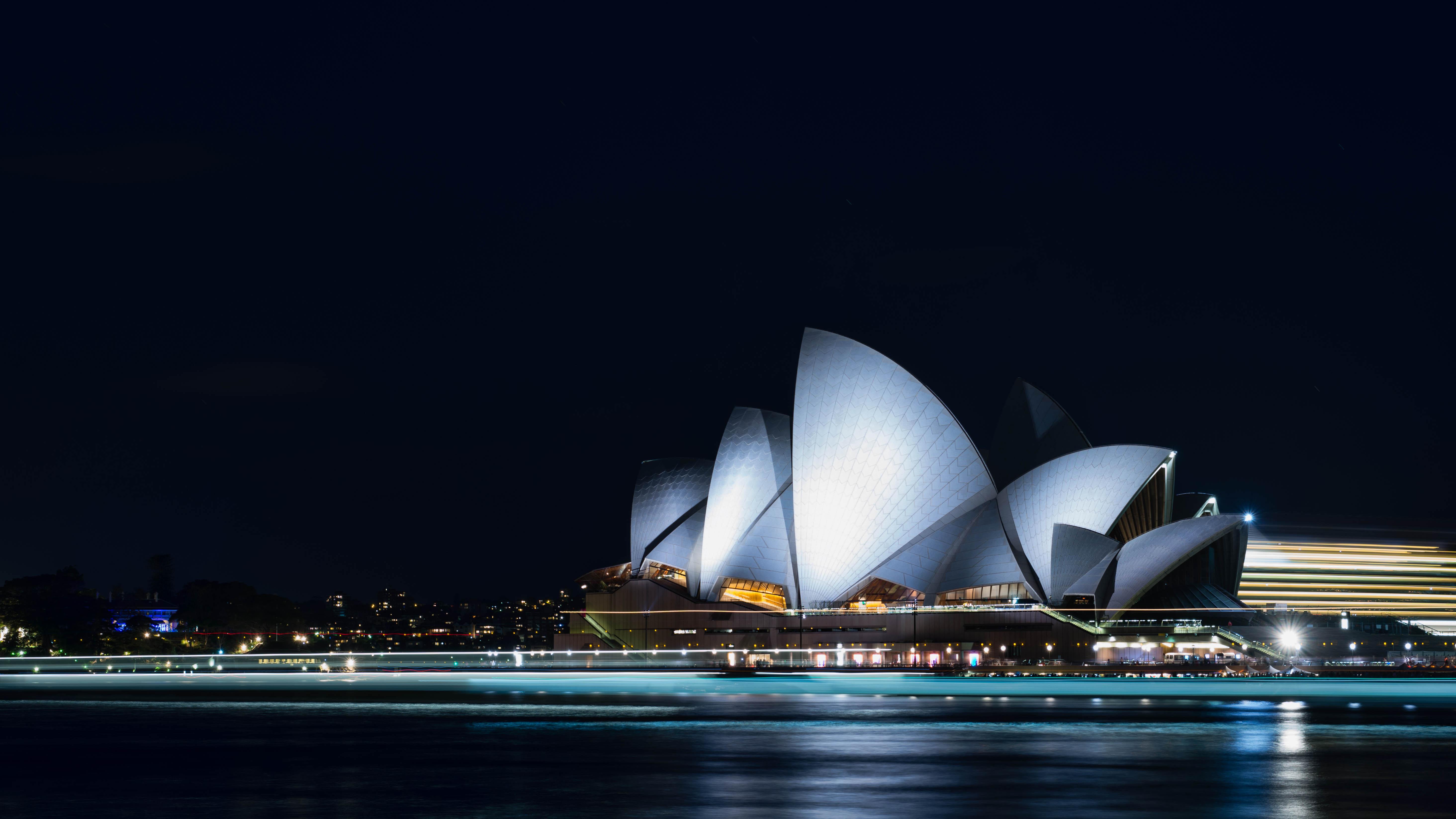 Сидней Австралия архитектура страны море ночь загрузить