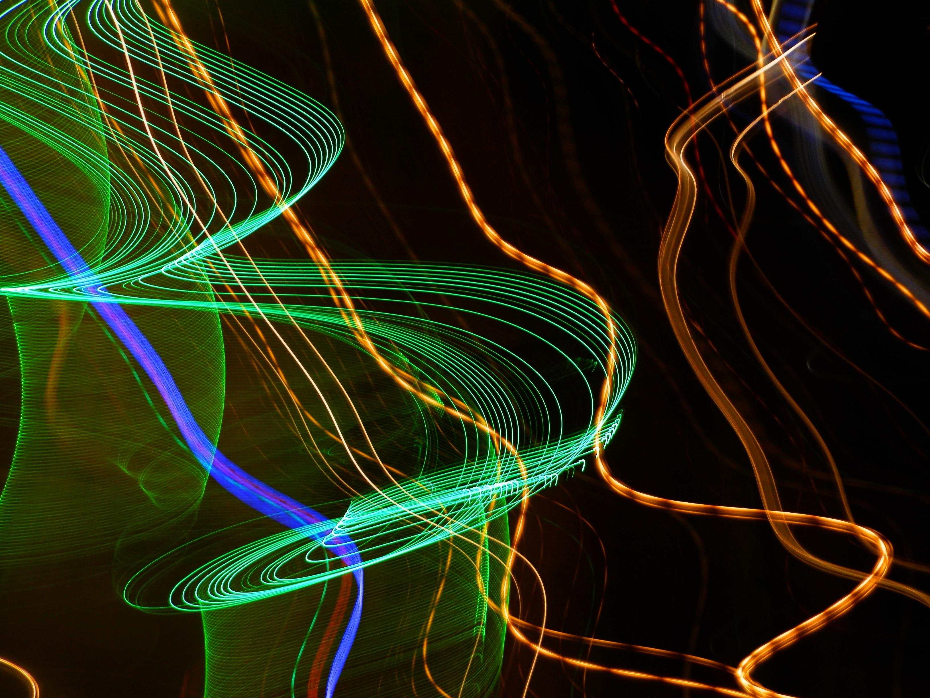 Free Images Light Wave Line Green Color Darkness