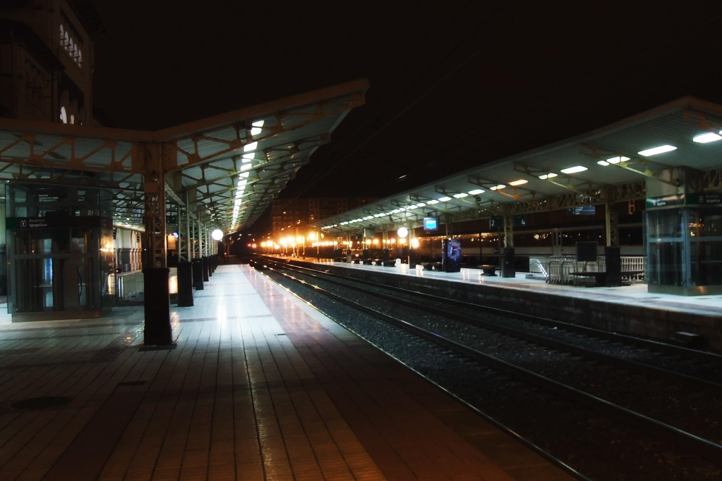 Free Images Light Railway Railroad Night