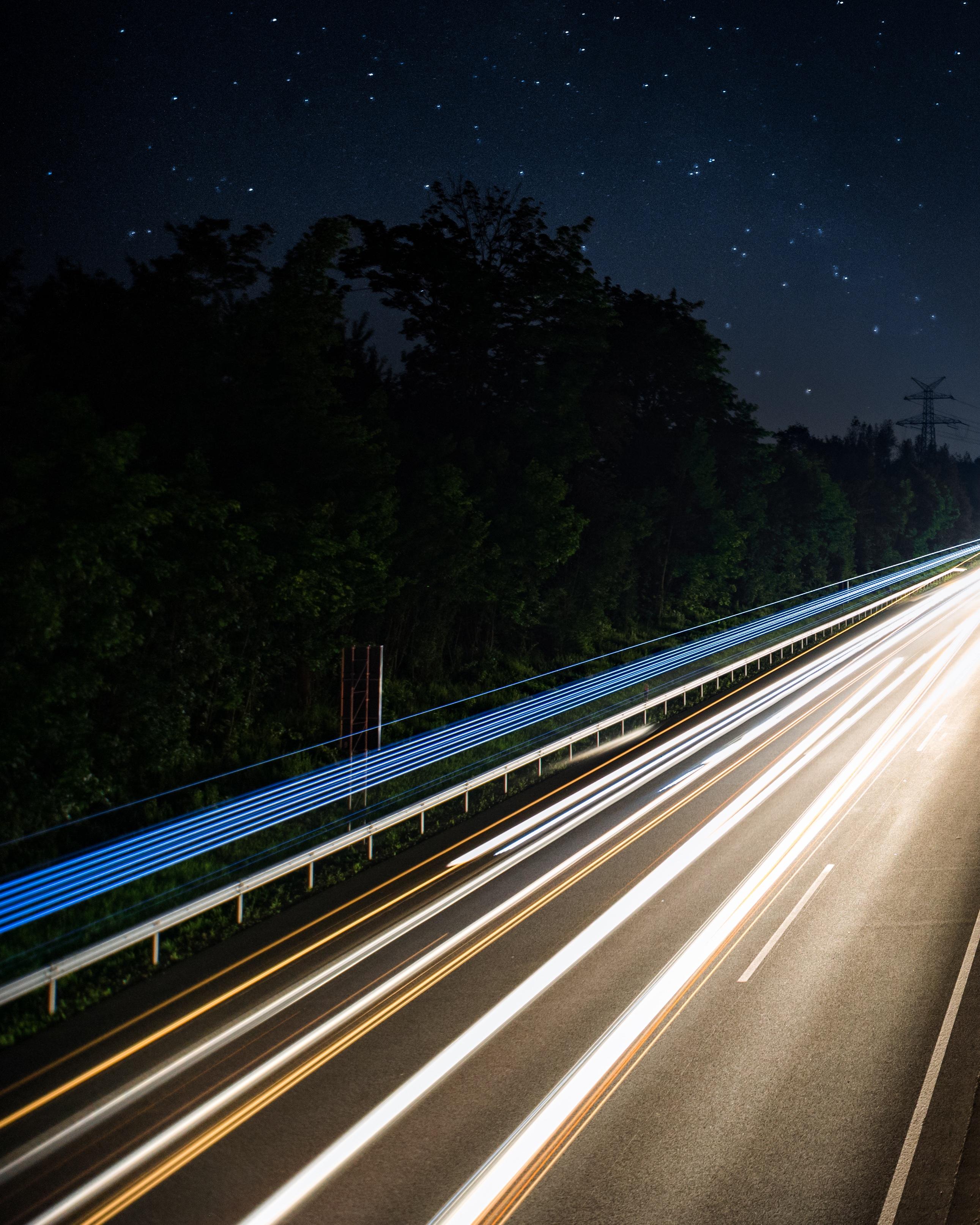 Картинки трасса ночью