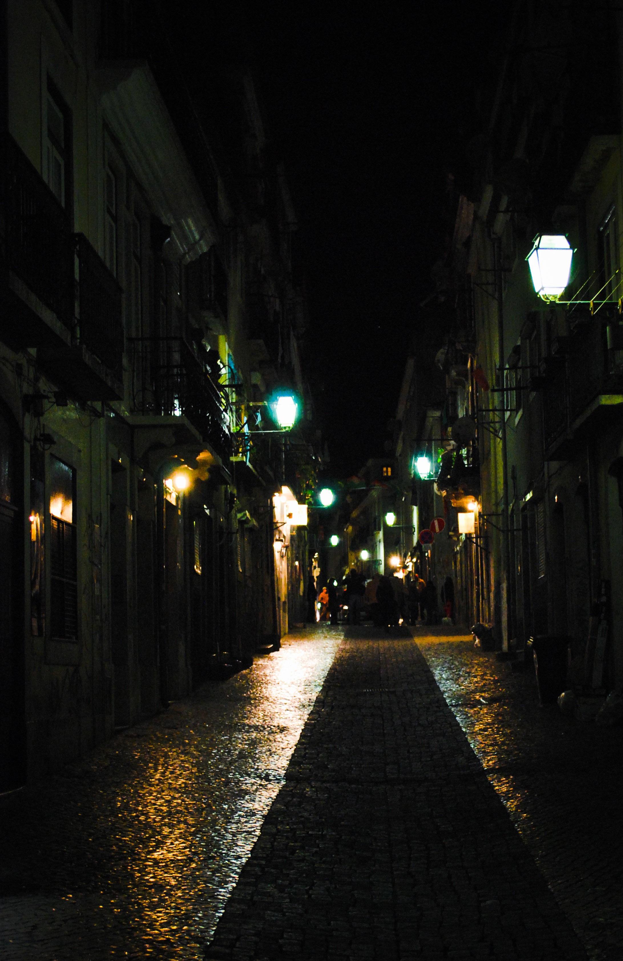 Light Road Street Night Alley Evening Darkness Street Light Lane Lighting Infrastructure Light Fixture Midnight Urban Area