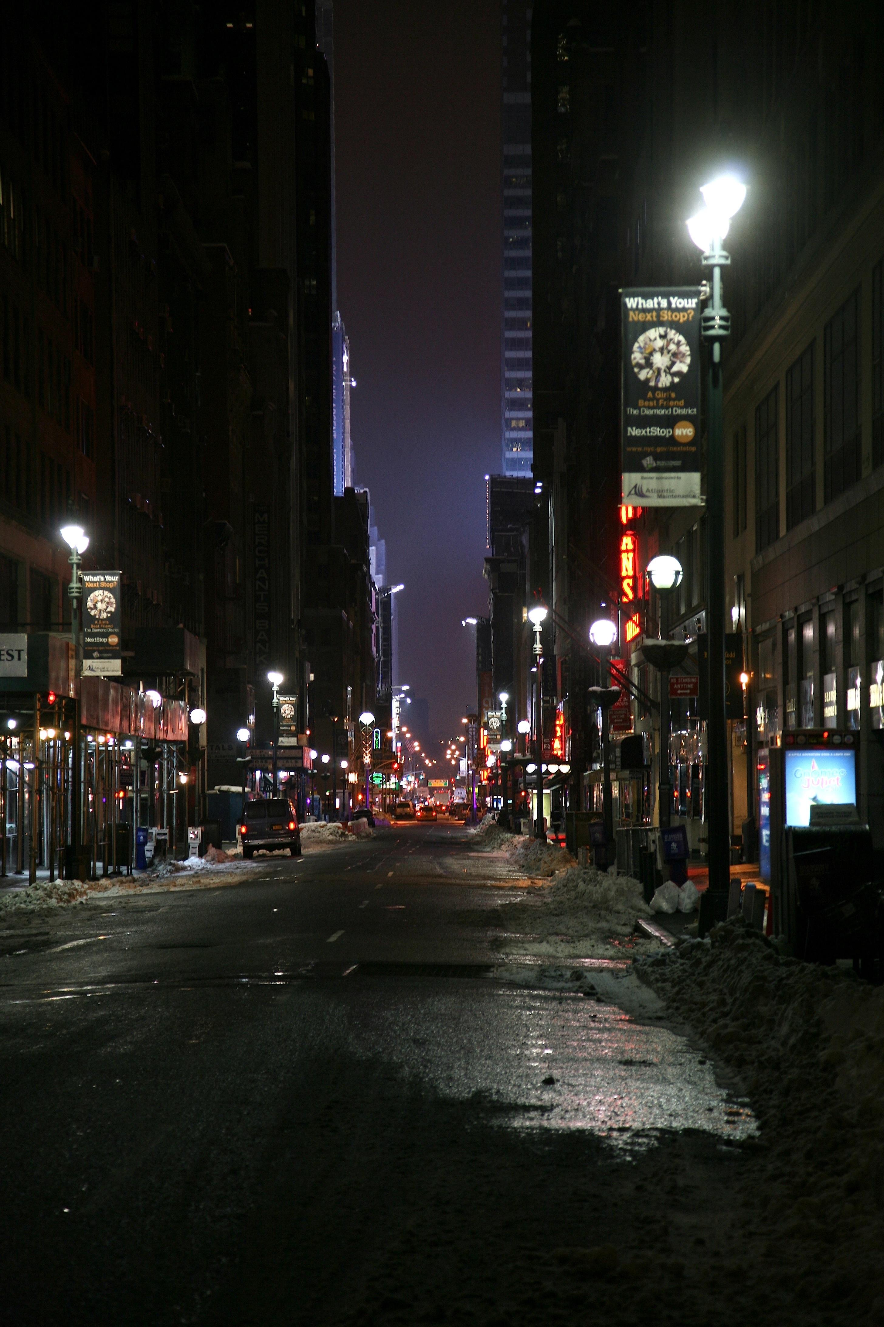 Free Images Road Night Building City Manhattan