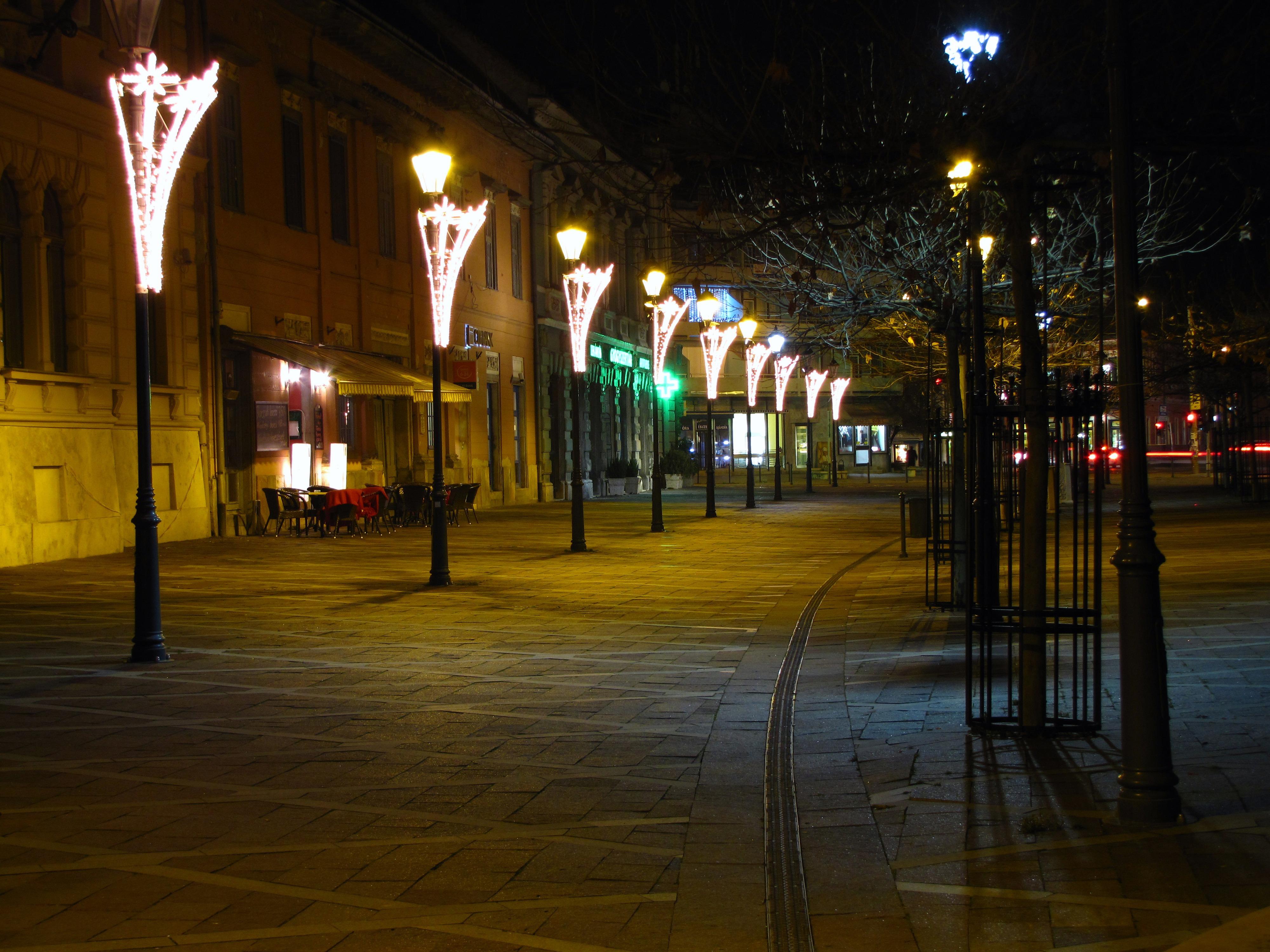 Gambar Cahaya Pemandangan Kota Pusat Kota Lampu Jalan