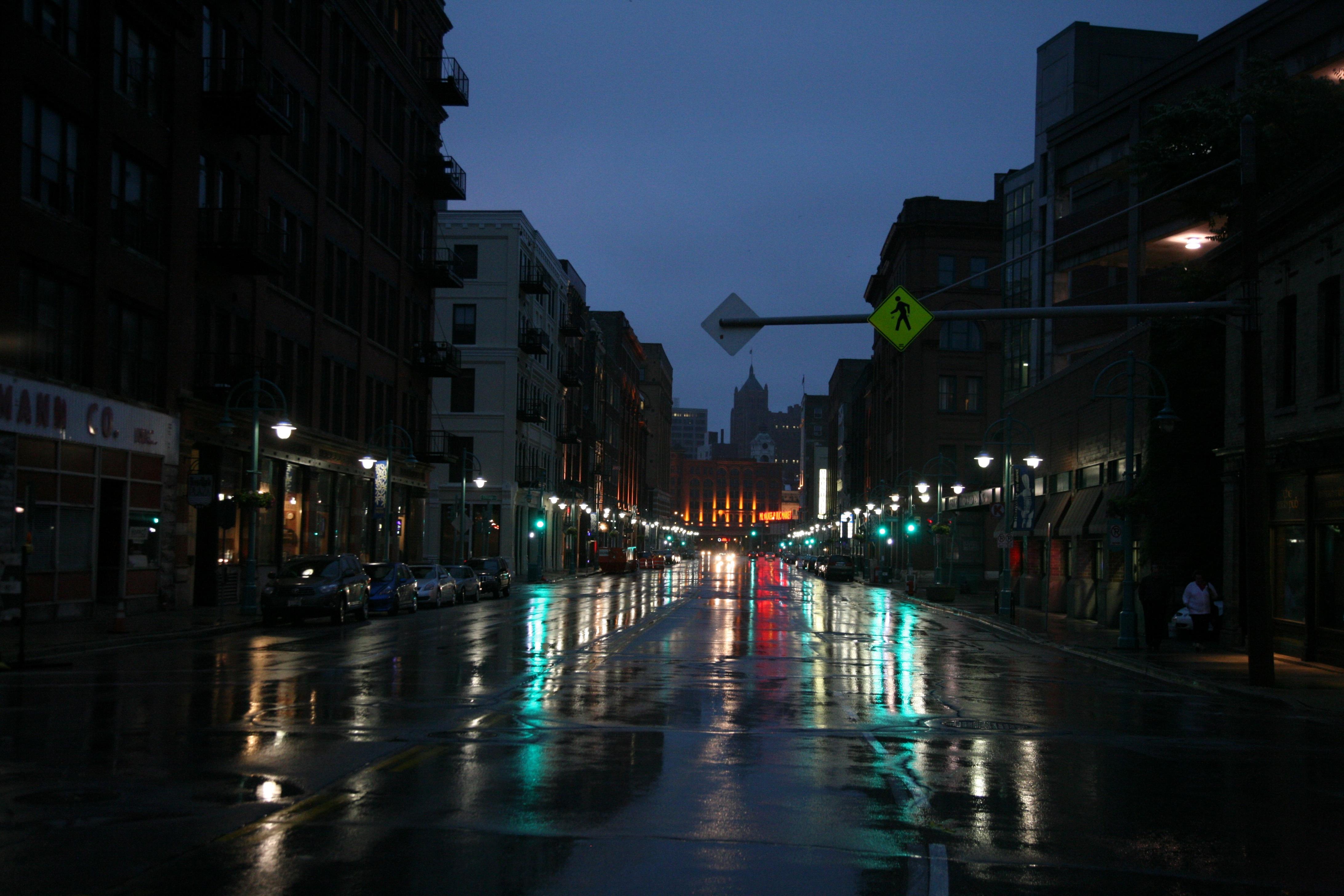 картинки на рабочий стол ночь дождь