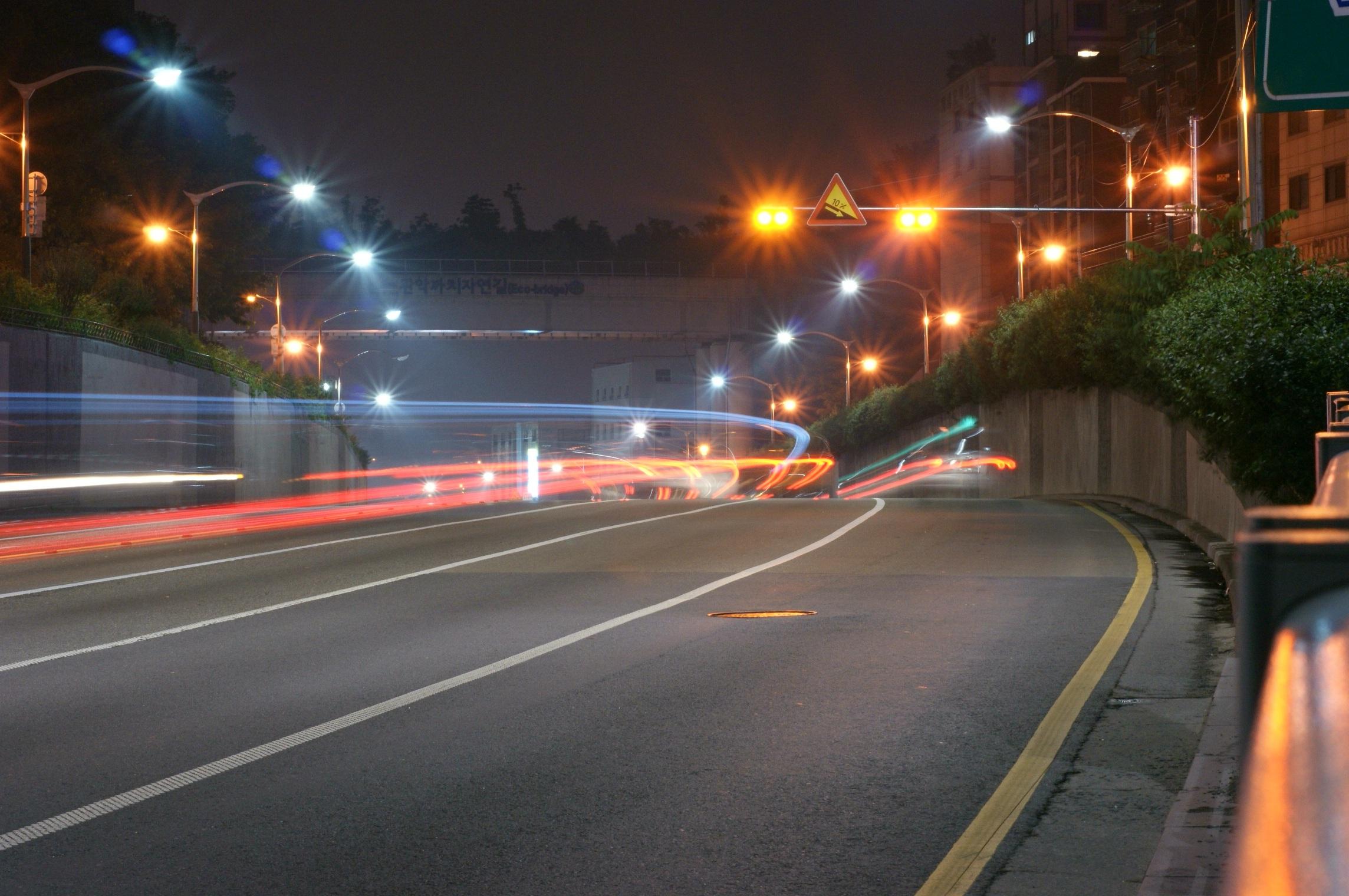 волны фотографии ночной дороги вот день