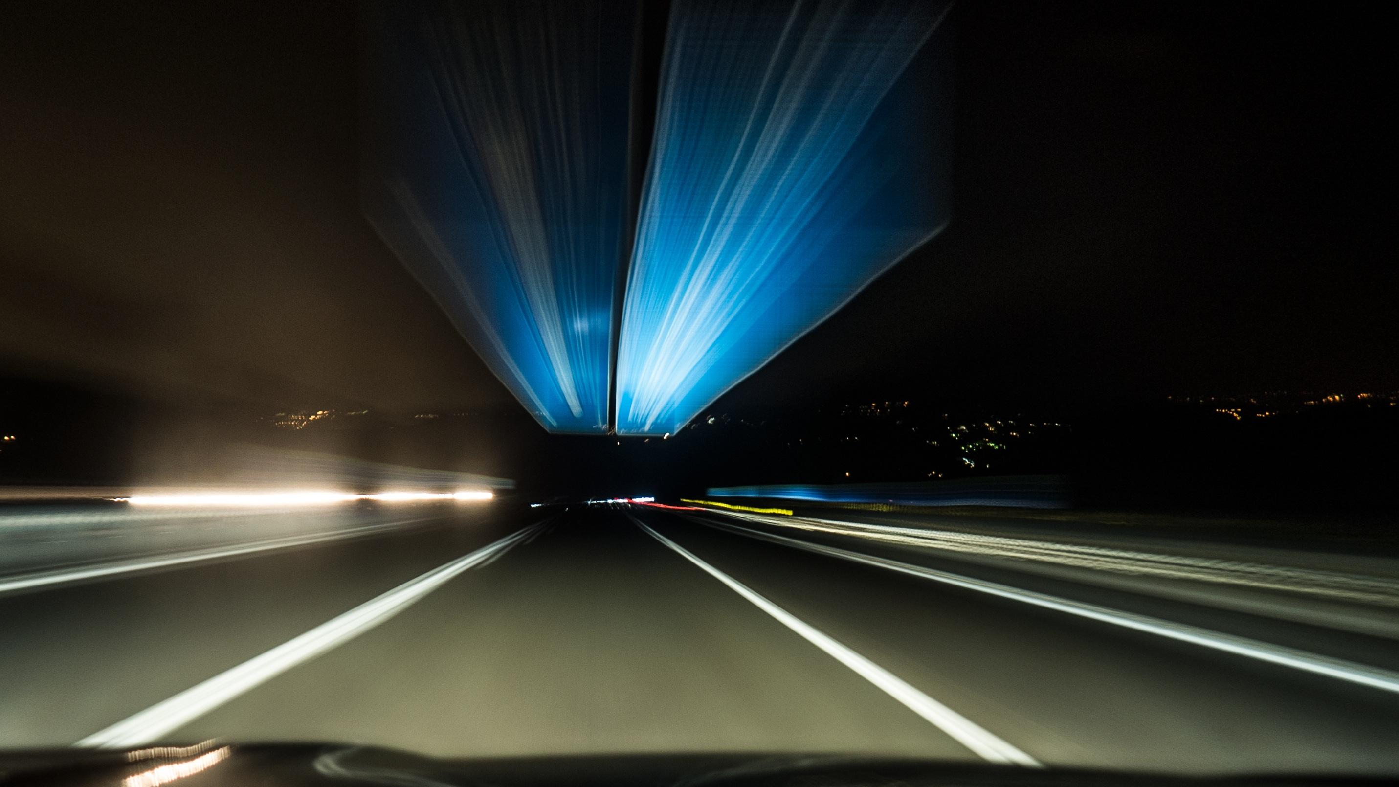 Движение машин ночью как сфотографировать