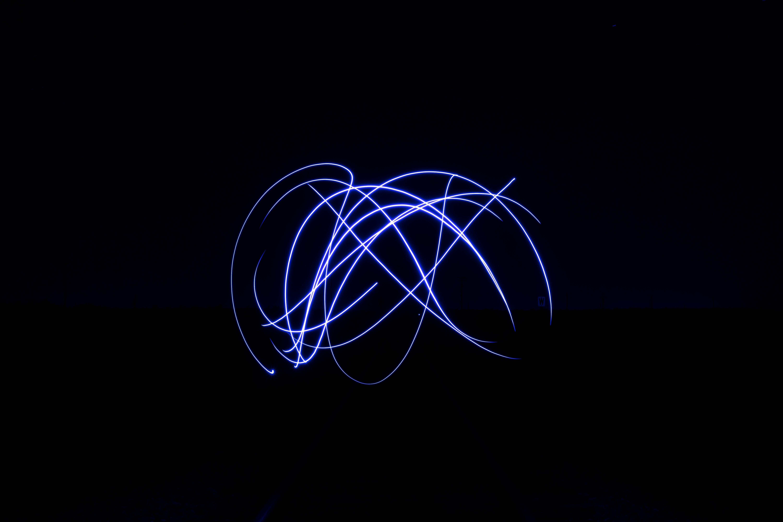 Fotoğraf ışık Gökyüzü Gece Karanlık Hareket Hat Mavi Daire