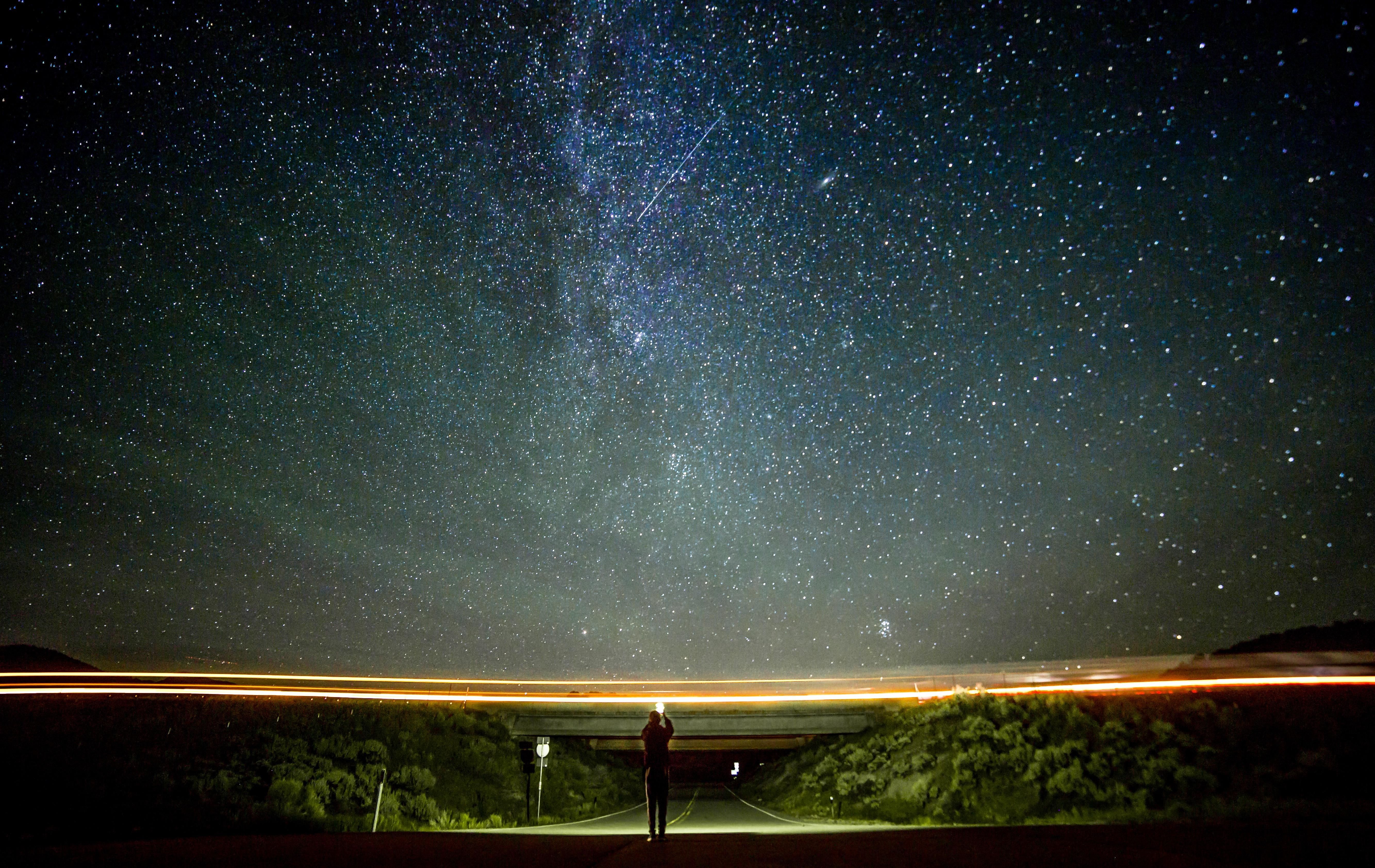 Kostenlose Foto Licht Himmel Stra E Nacht Star Milchstra E Atmosph Re Platz