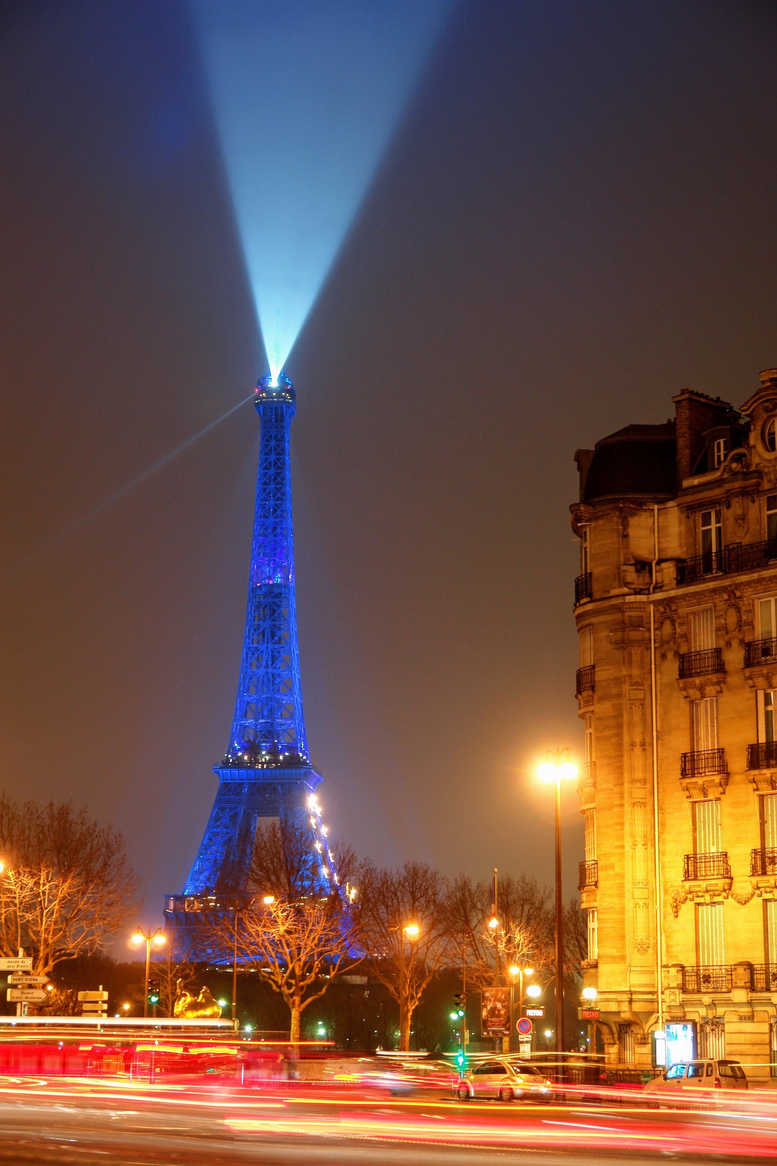 Free Images : skyline, night, eiffel tower, paris