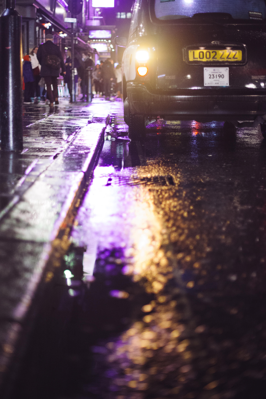 Обои лужа, дождь, мостовая. Города foto 19